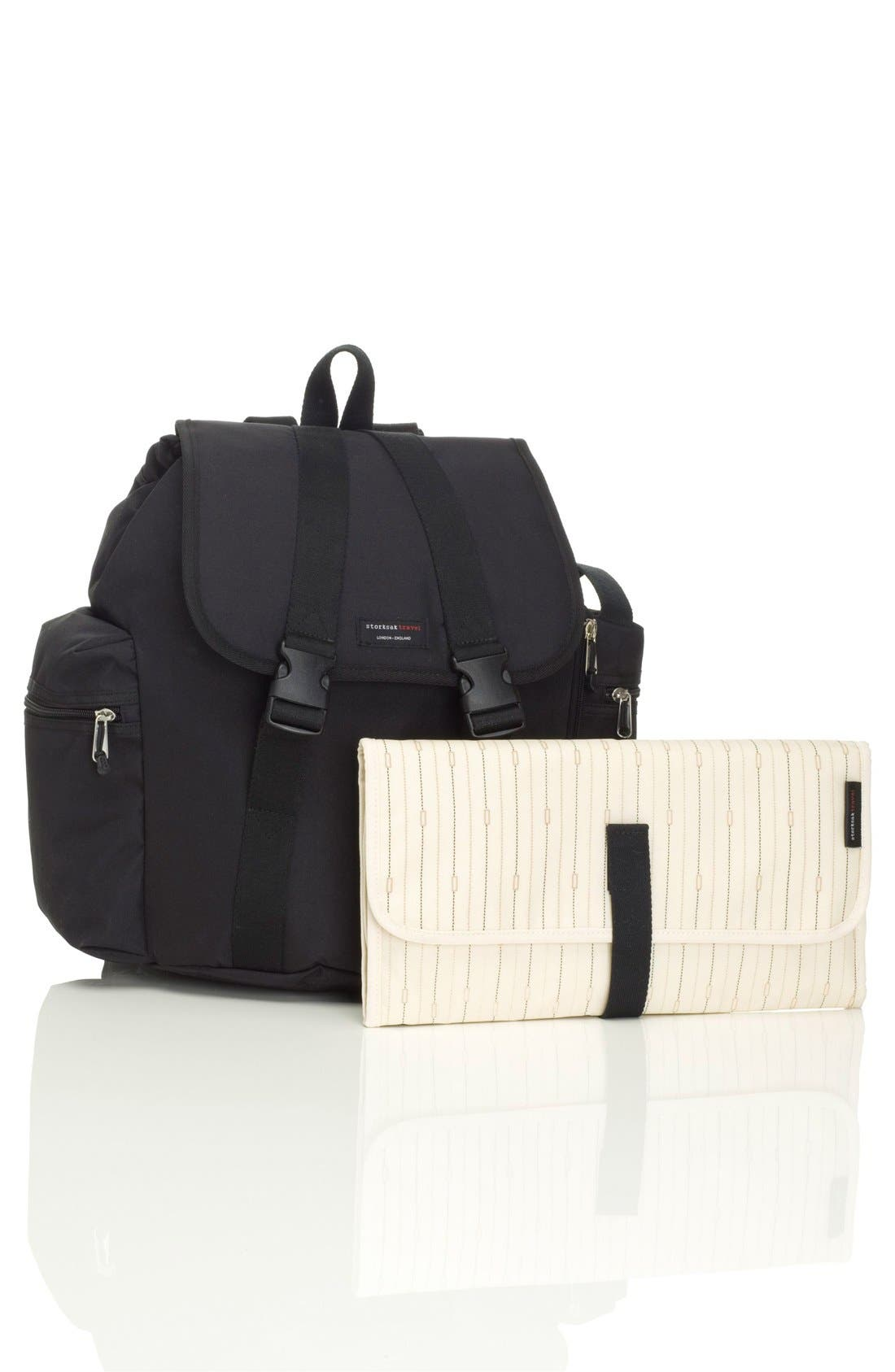 Alternate Image 4  - Storksak Travel Backpack Diaper Bag