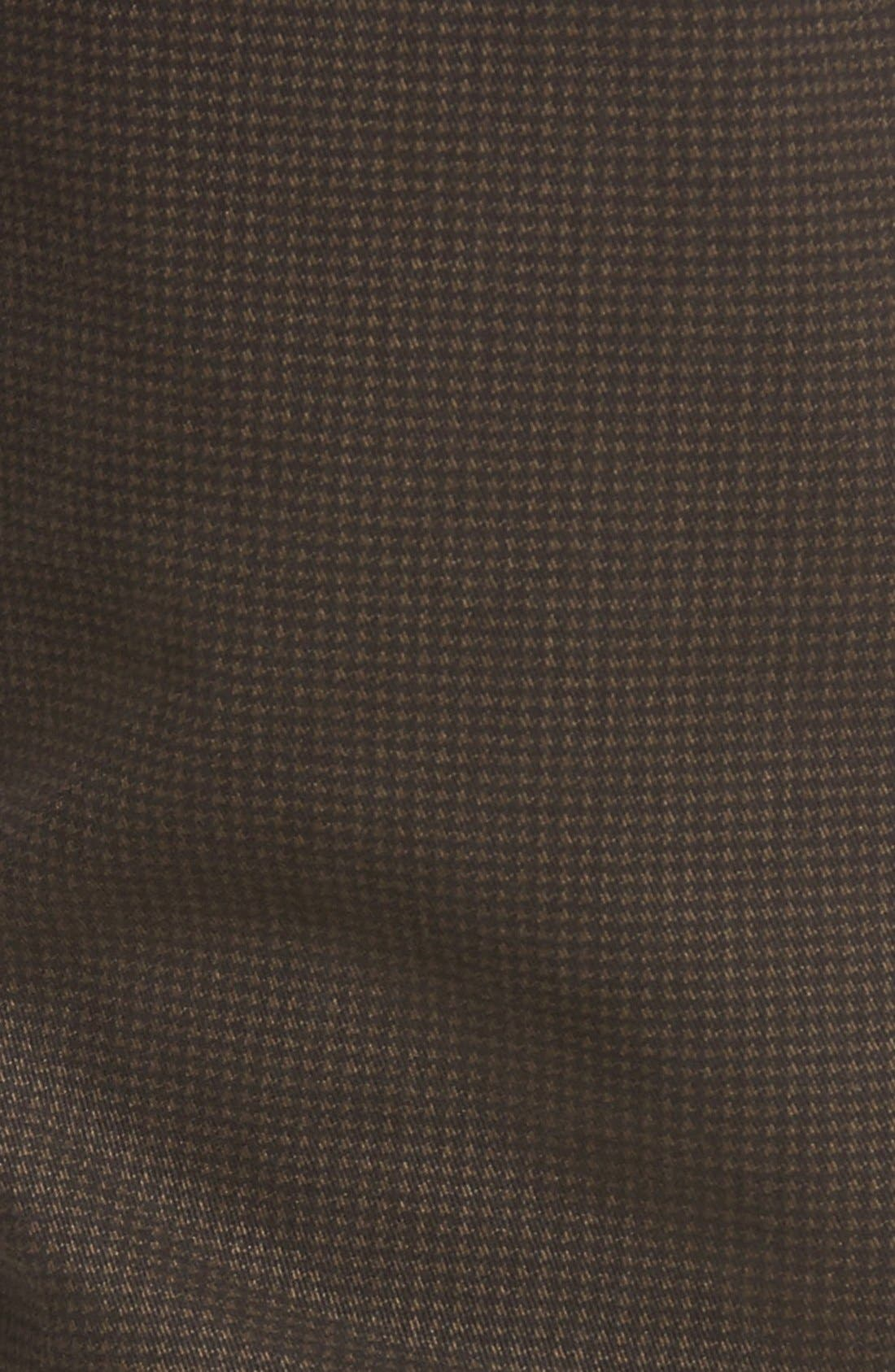 Alternate Image 5  - Bugatchi Mini Check Five-Pocket Pants