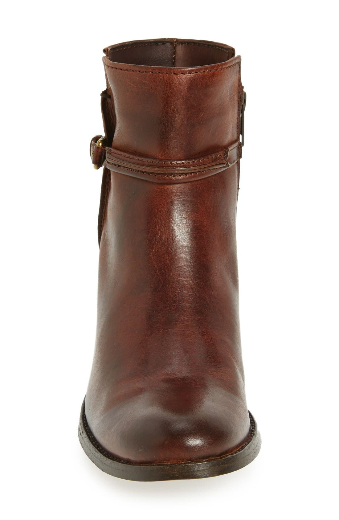 Melissa Bootie,                             Alternate thumbnail 3, color,                             Brown Leather