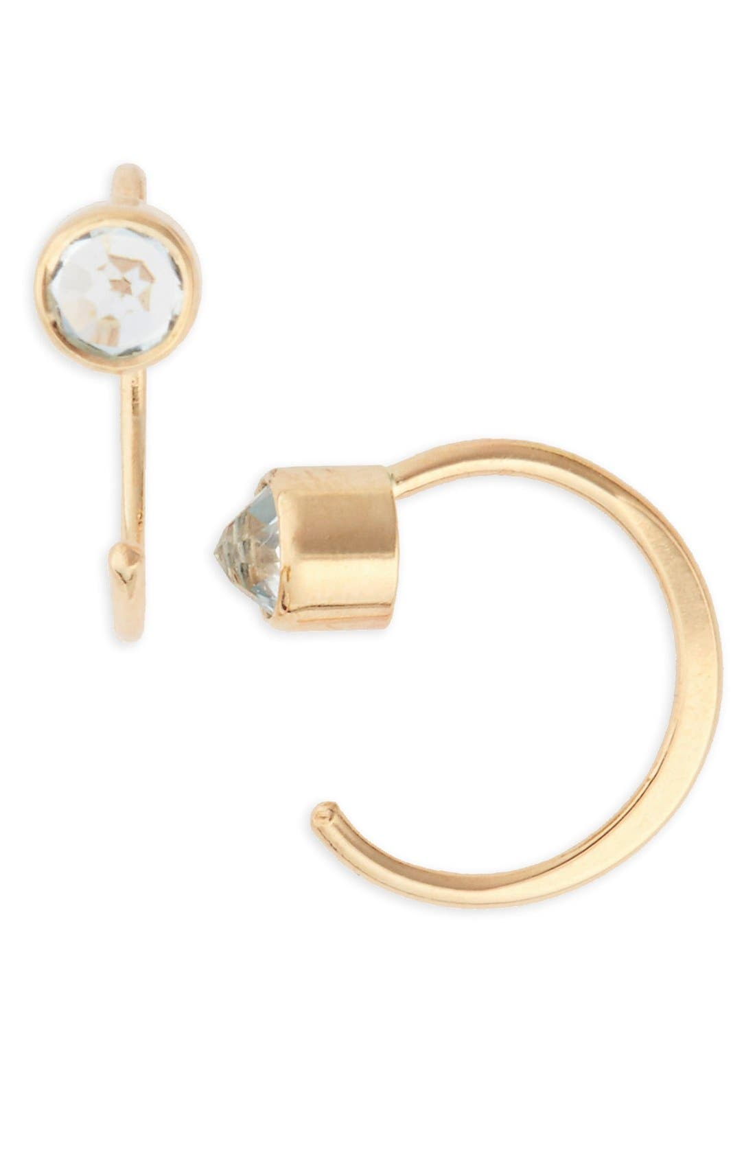 Main Image - Melissa Joy Manning Topaz Hug Hoop Earrings