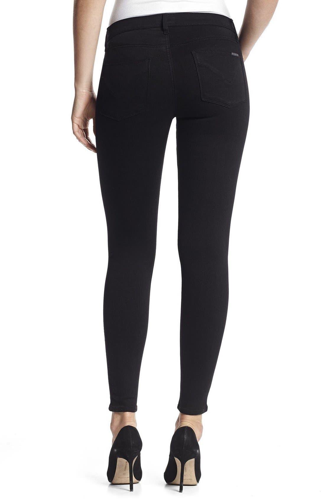 HudsonJeans Nico Super Skinny Jeans,                             Alternate thumbnail 2, color,                             Black