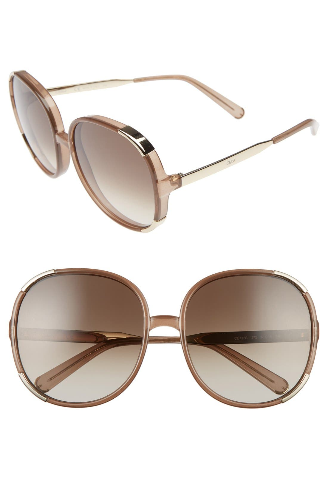 Sunglasses On Sale, Transparent Light Rose, 2017, one size Chloé