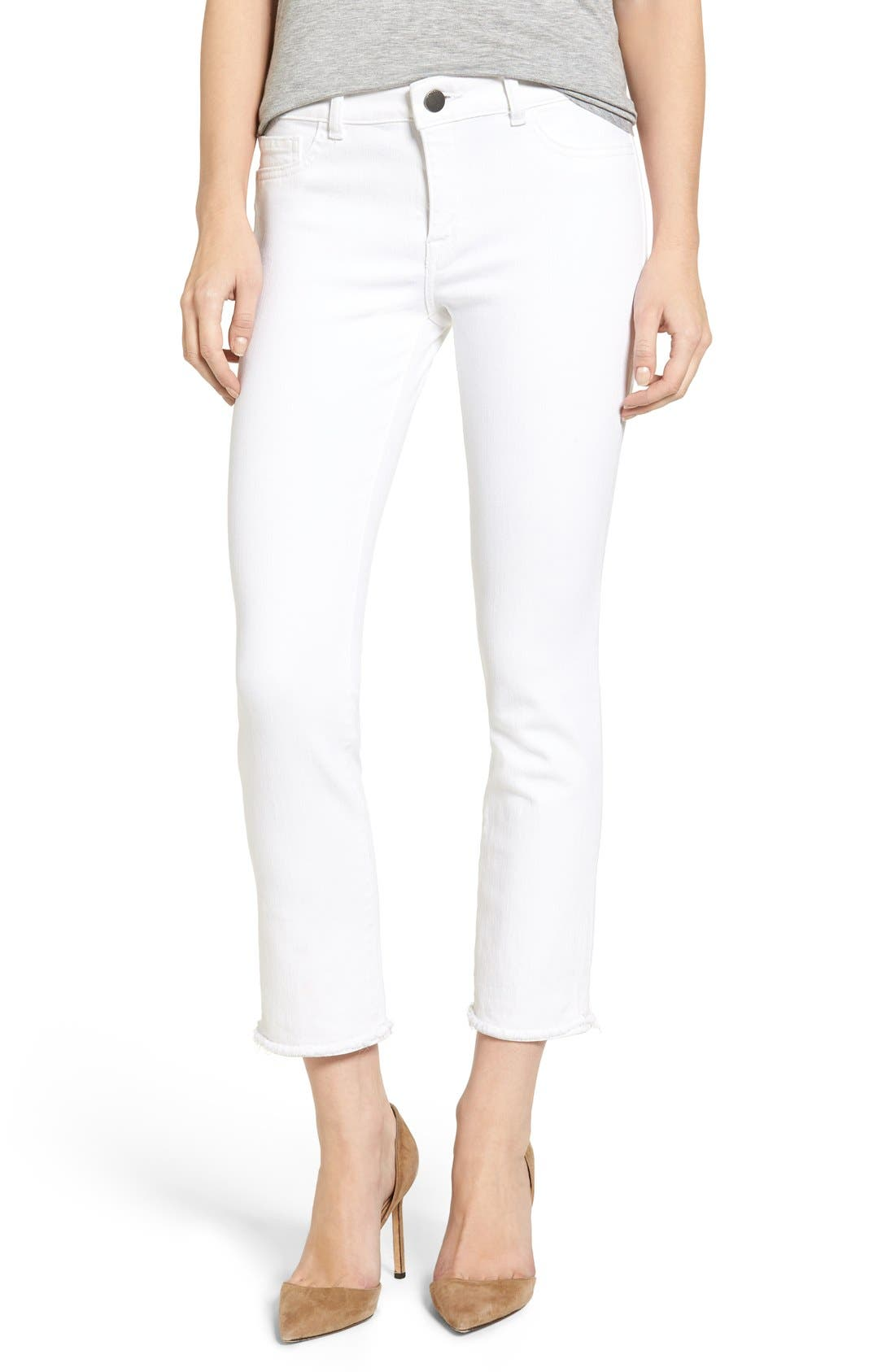 Mara Ankle Straight Leg Jeans,                         Main,                         color, Oakley