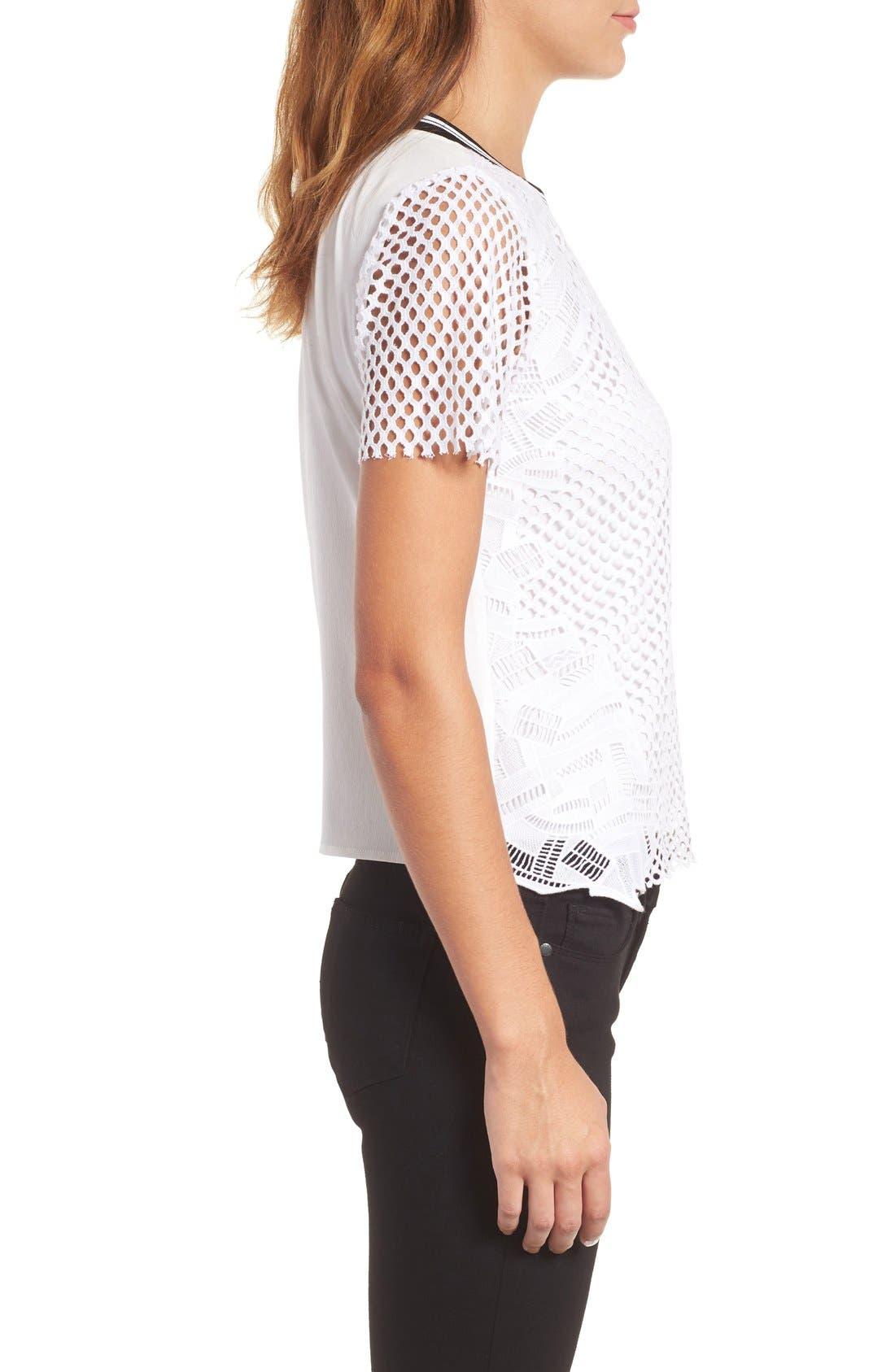 Alternate Image 4  - Trouvé Lace Mesh Top