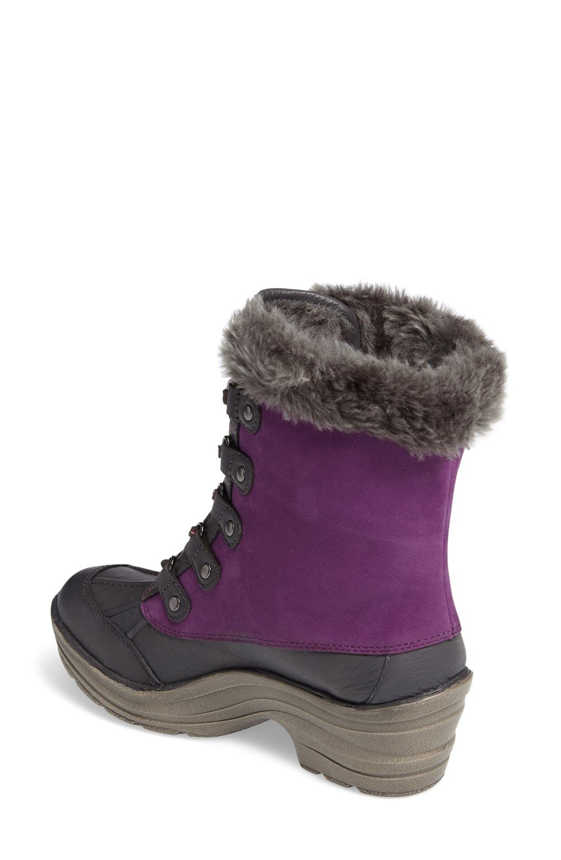 Rosemound Waterproof Boot,                             Alternate thumbnail 2, color,                             Purple/ Pewter Leather