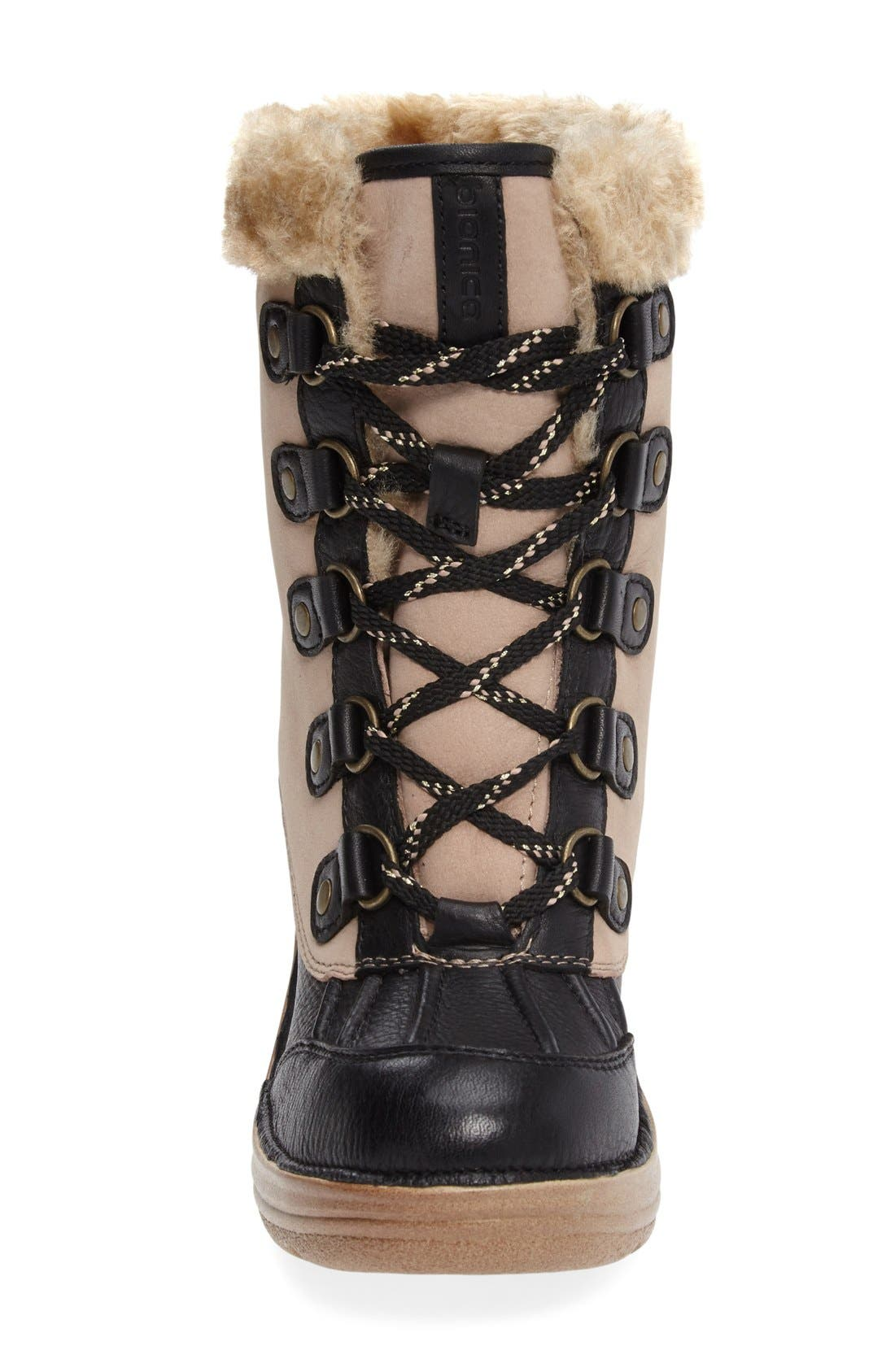 Rosemound Waterproof Boot,                             Alternate thumbnail 2, color,                             Cream/ Black Leather