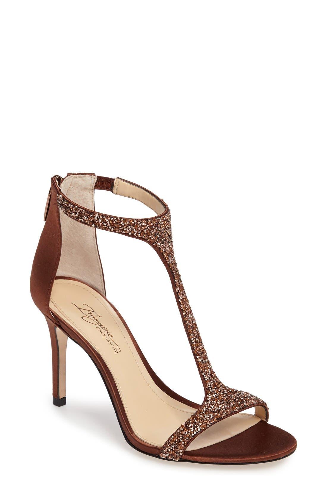 Imagine by Vince Camuto 'Phoebe' Embellished T-Strap Sandal (Women)