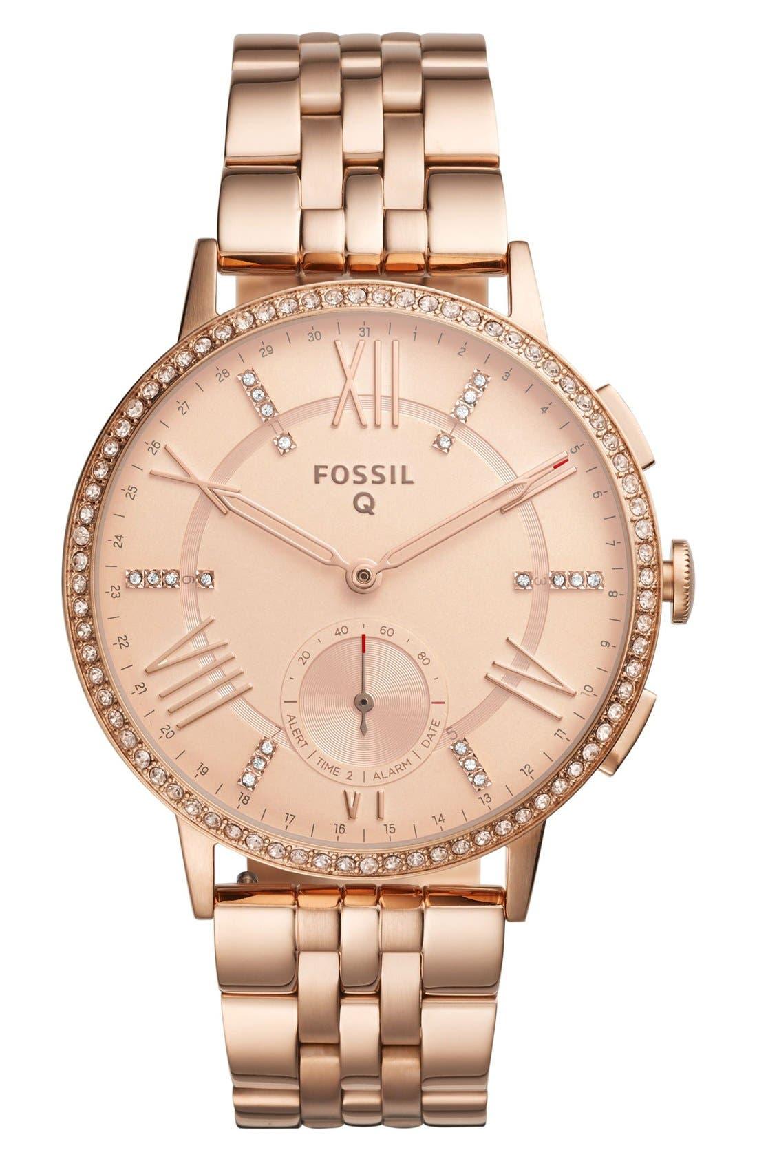 Main Image - Fossil Q Gazer Hybrid Smart Bracelet Watch, 41mm