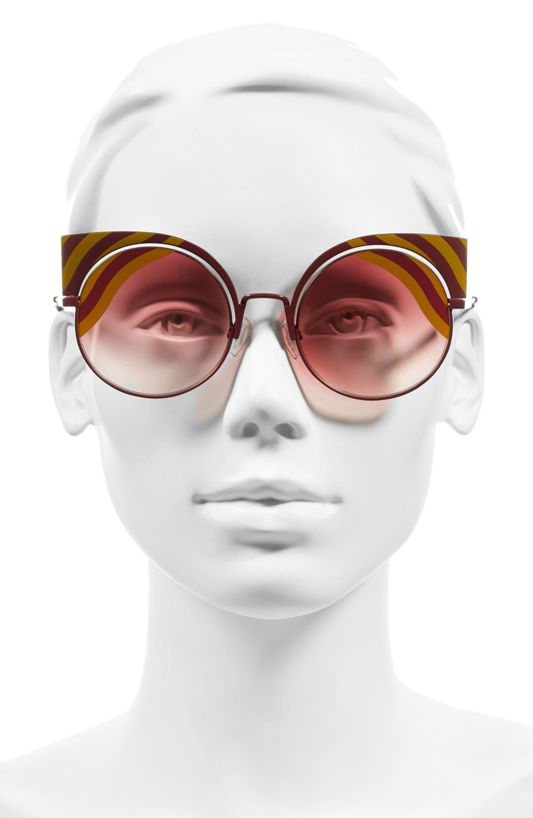Alternate Image 2  - Fendi Hypnoshine 53mm Cat Eye Sunglasses