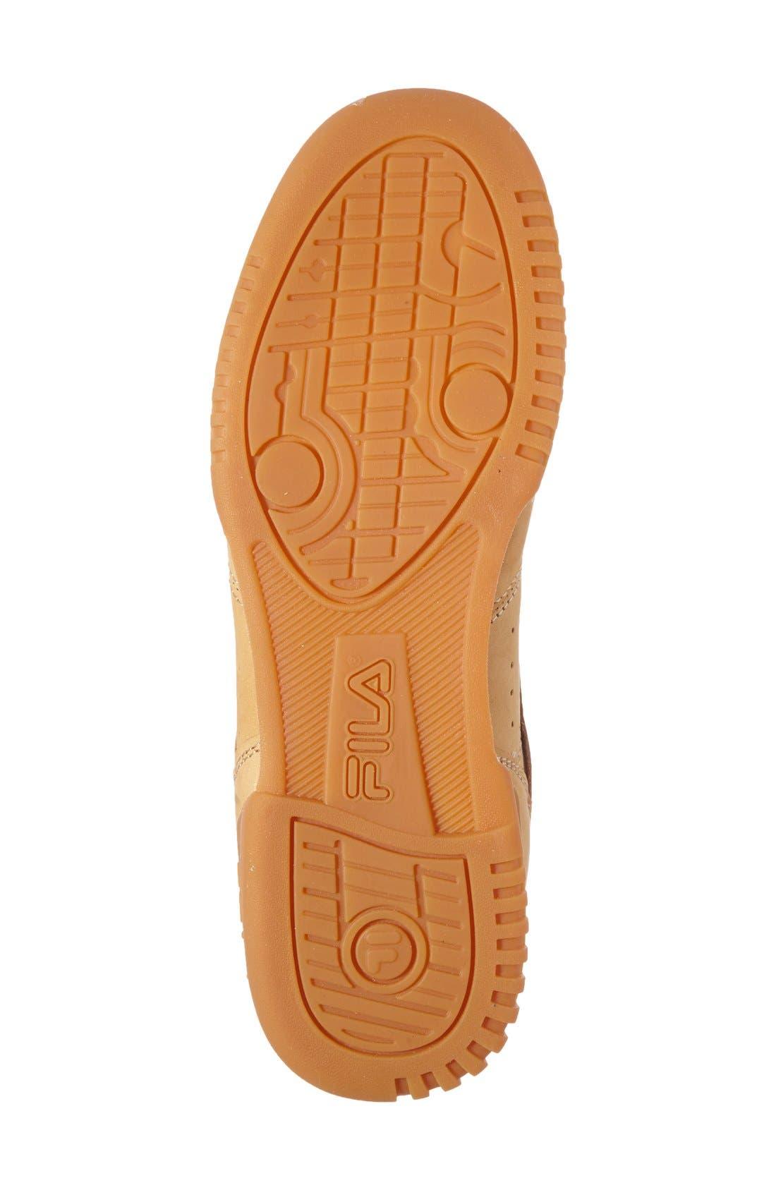 USA Heritage Sneaker,                             Alternate thumbnail 4, color,                             Tan Nubuck Leather
