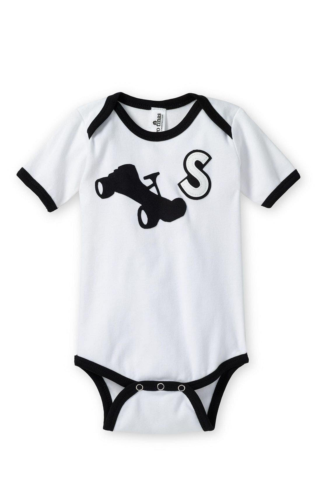 Alternate Image 1 Selected - Two Tinas Icon Bodysuit (Infant)