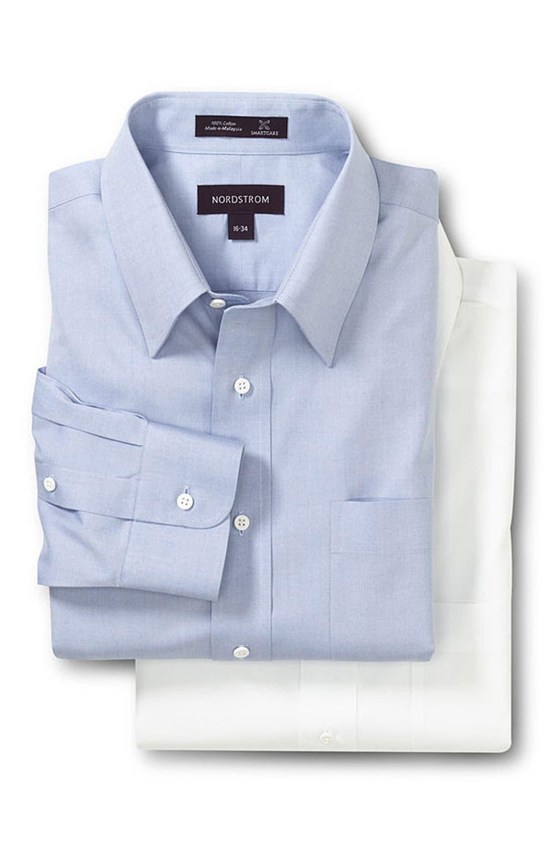 Alternate Image 2  - Nordstrom Smartcare™ Classic Fit Pinpoint Dress Shirt