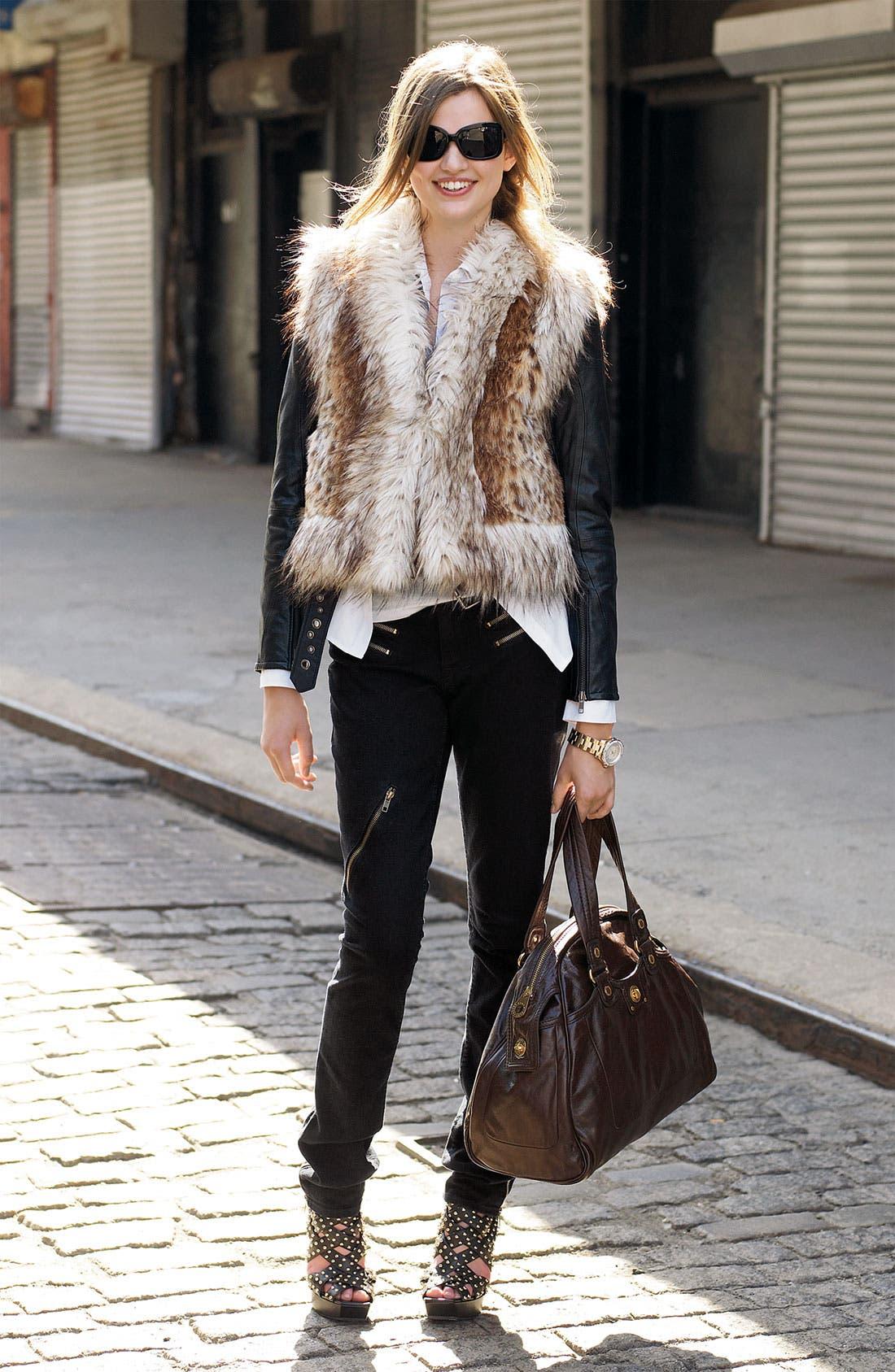 Alternate Image 2  - Damselle Faux Lynx Fur Vest