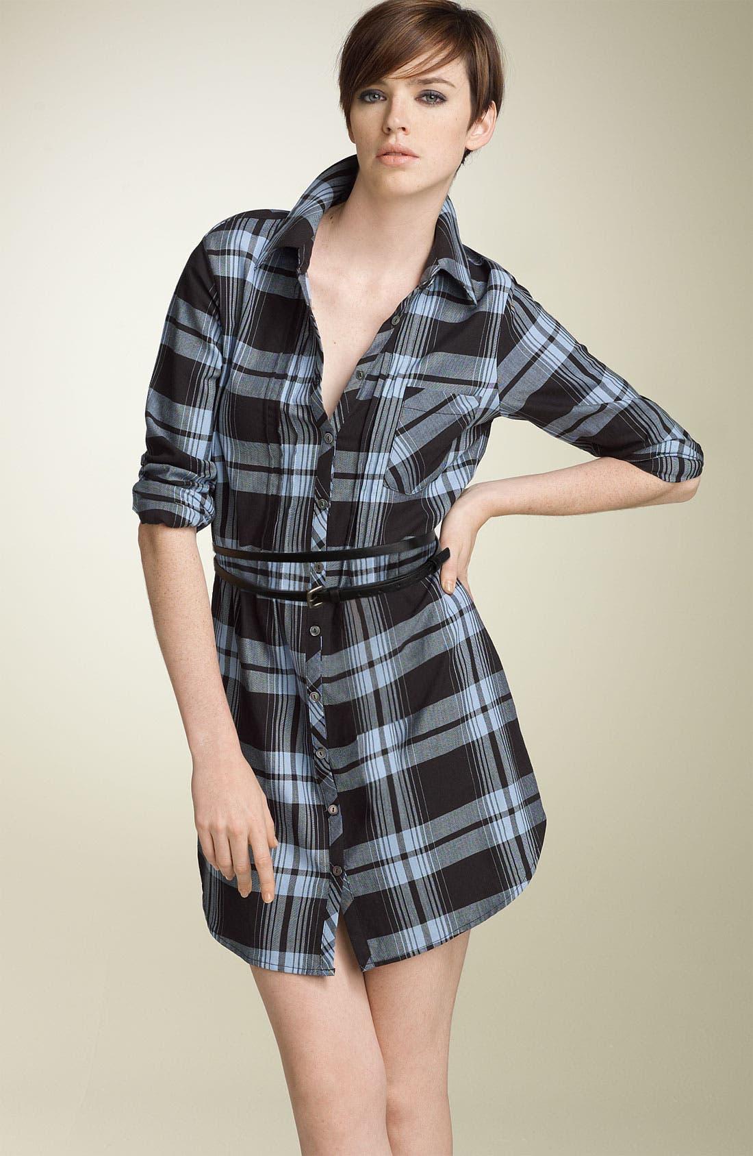 Main Image - Joie 'Gemini' Belted Plaid Shirtdress