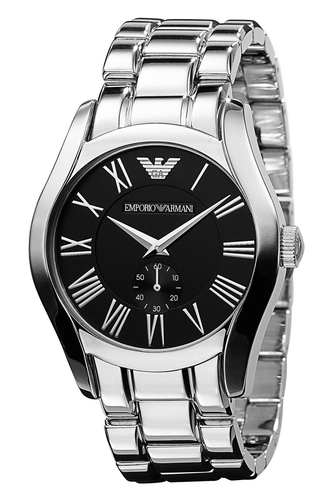 Alternate Image 2  - Emporio Armani Stainless Steel Bracelet Watch