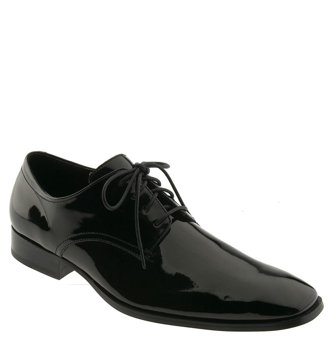 'Gareth II' Oxford,                             Main thumbnail 1, color,                             Black Patent