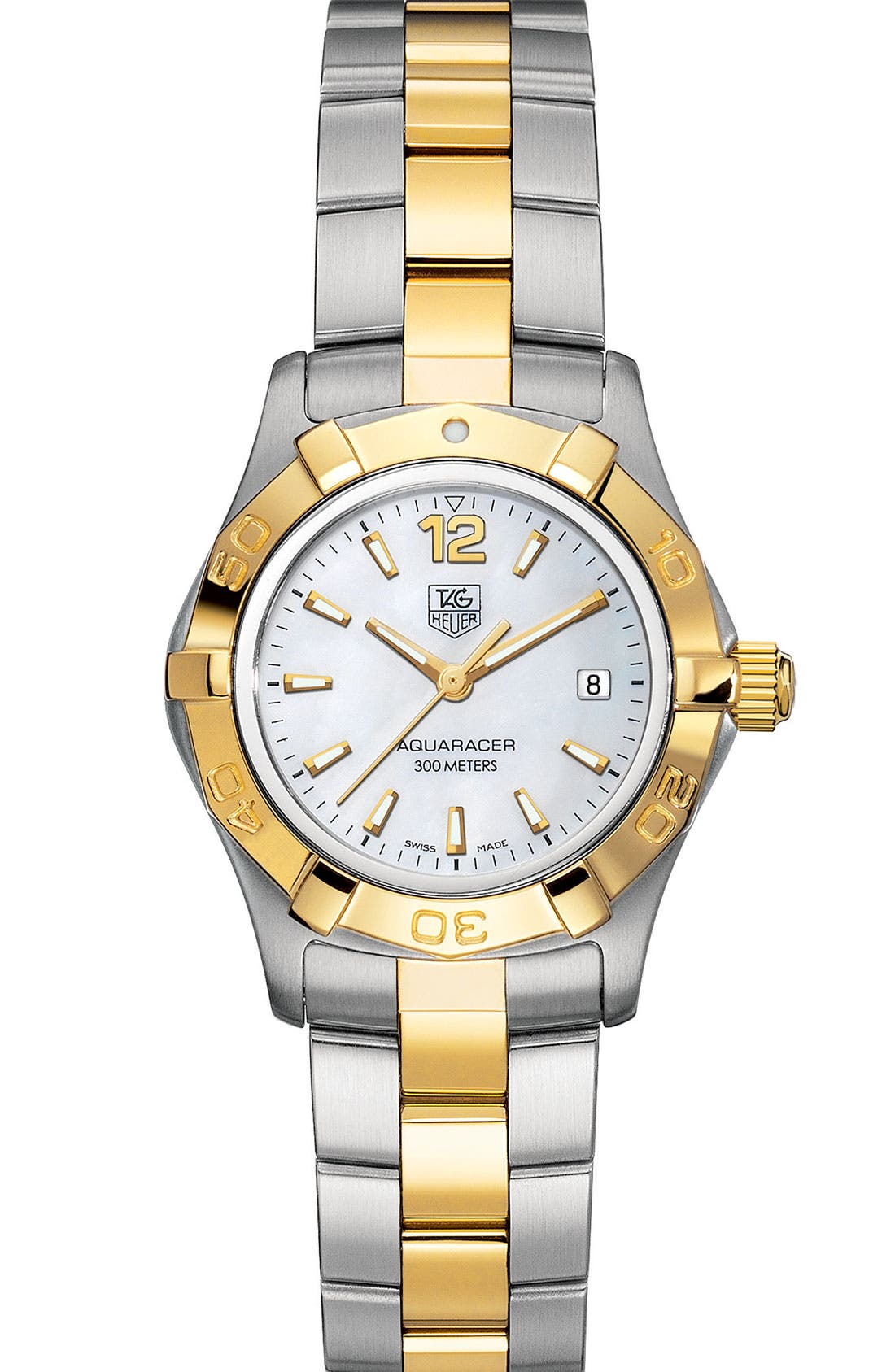 Alternate Image 1 Selected - TAG Heuer 'Aquaracer' Stainless Steel Watch