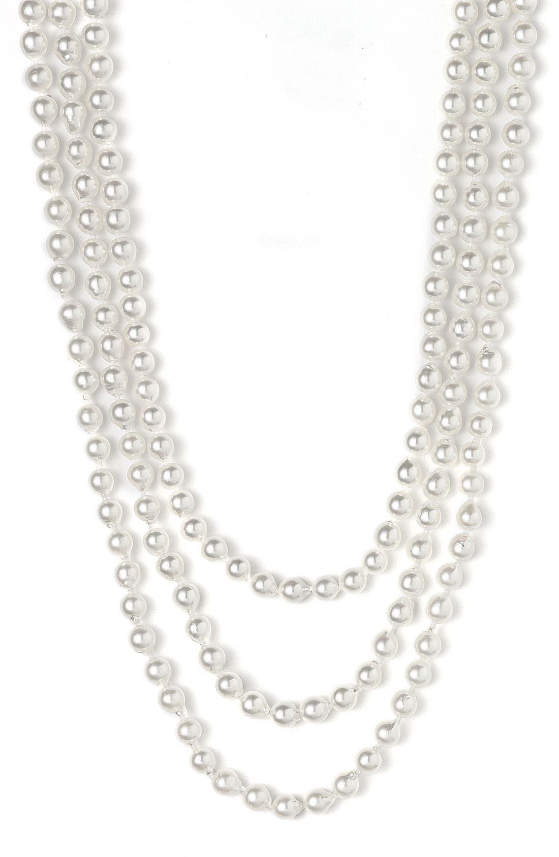 Alternate Image 1 Selected - Mastoloni Akoya 7mm Pearl Extra Long Strand Necklace