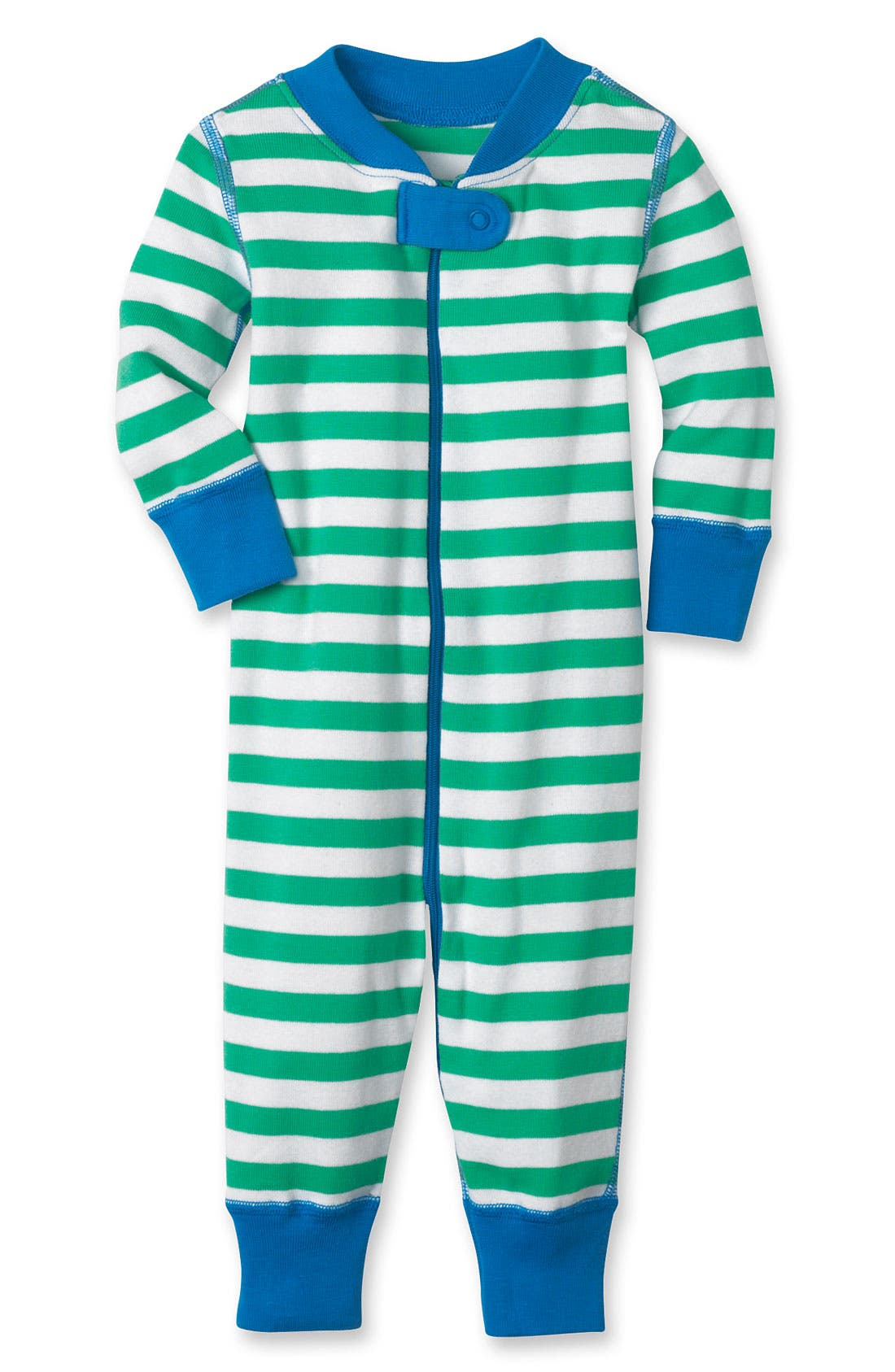 Alternate Image 1 Selected - Hanna Andersson Organic Cotton Fitted One-Piece Pajamas (Baby)