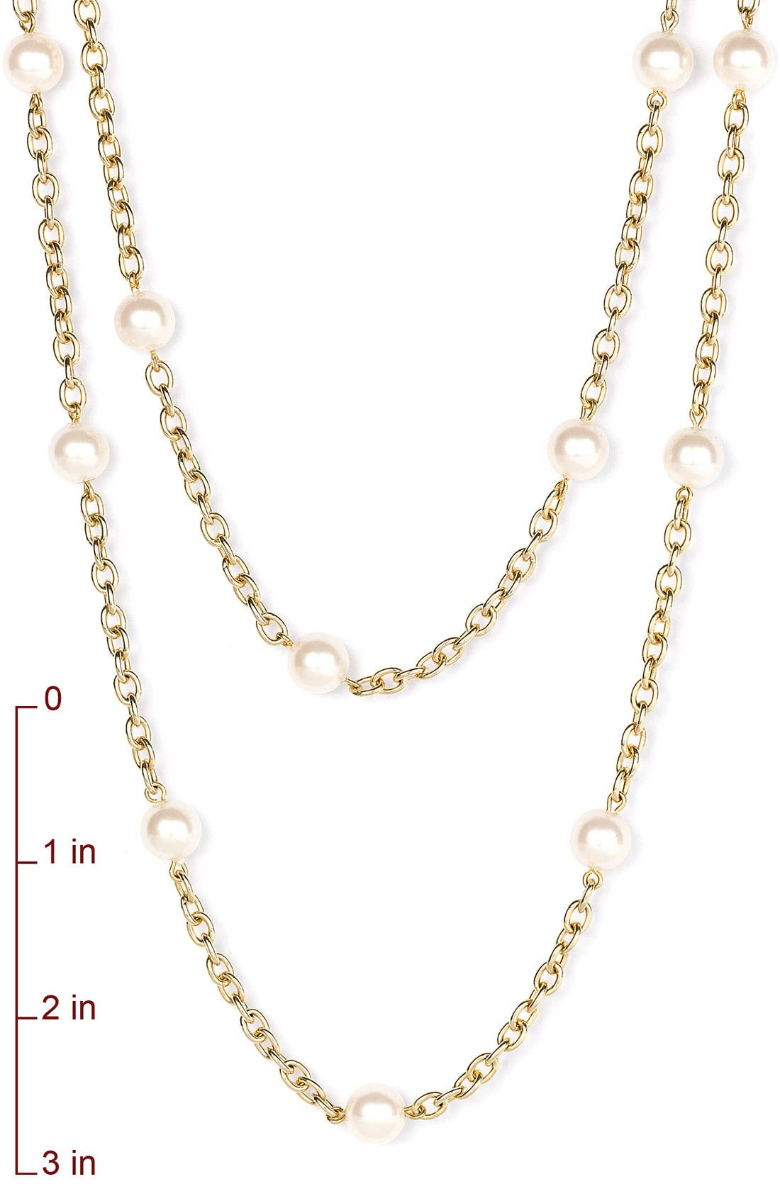 Alternate Image 2  - Nordstrom Glass Pearl Extra Long Strand Necklace
