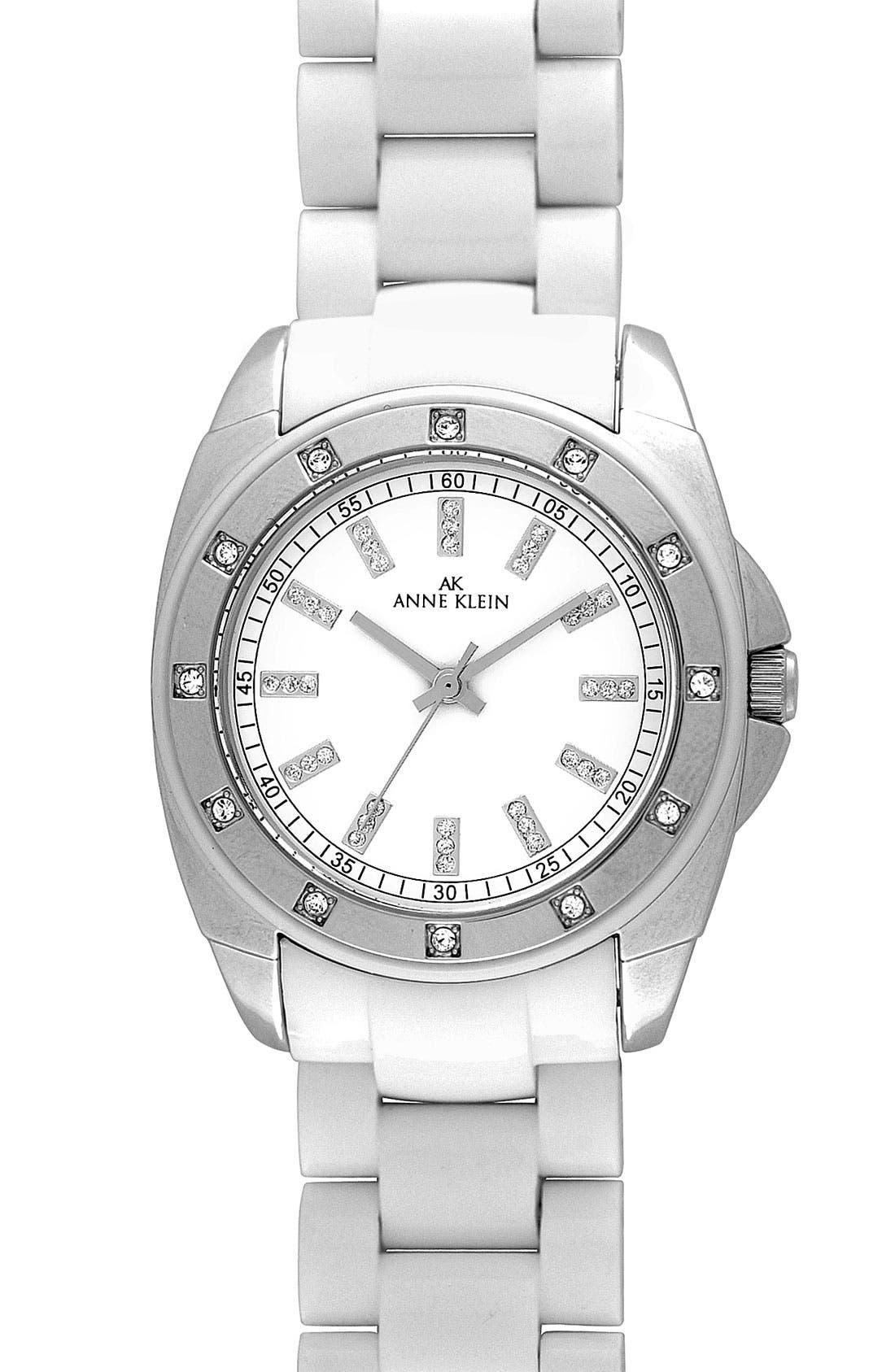 Alternate Image 1 Selected - Anne Klein Crystal Resin Bracelet Watch