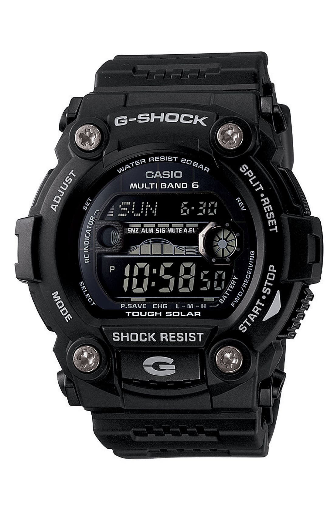 Alternate Image 1 Selected - G-Shock 'Solar Atomic G Rescue' Watch, 50mm