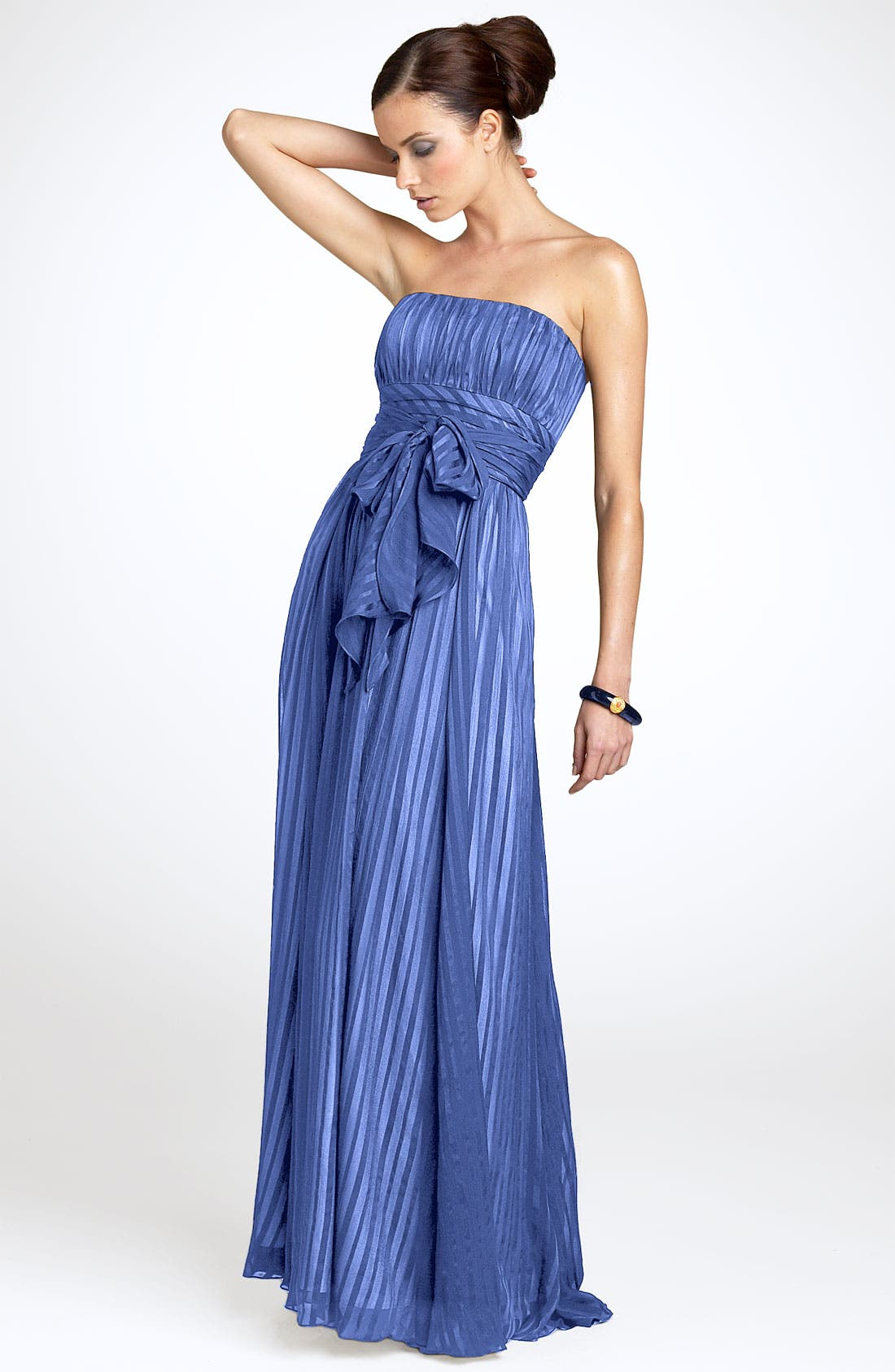 Alternate Image 1 Selected - BCBGMAXAZRIA Strapless Silk Gown