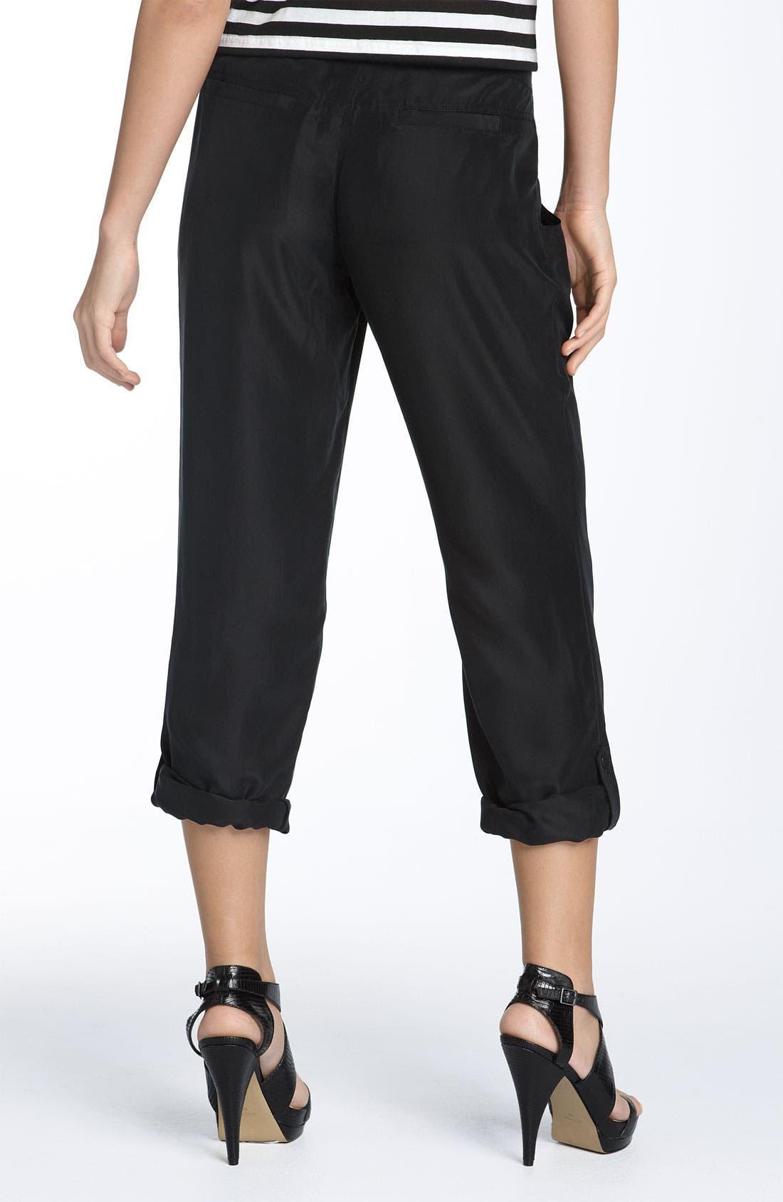 Alternate Image 2  - Hinge® Skinny Silk Pants