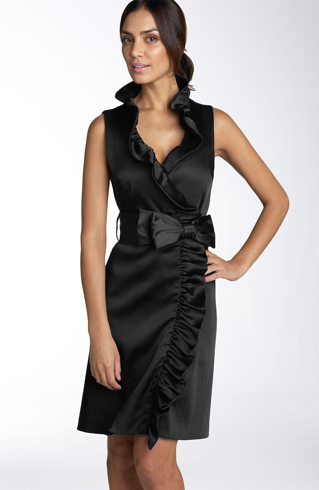 Main Image - Eliza J Ruffle Wrap Dress