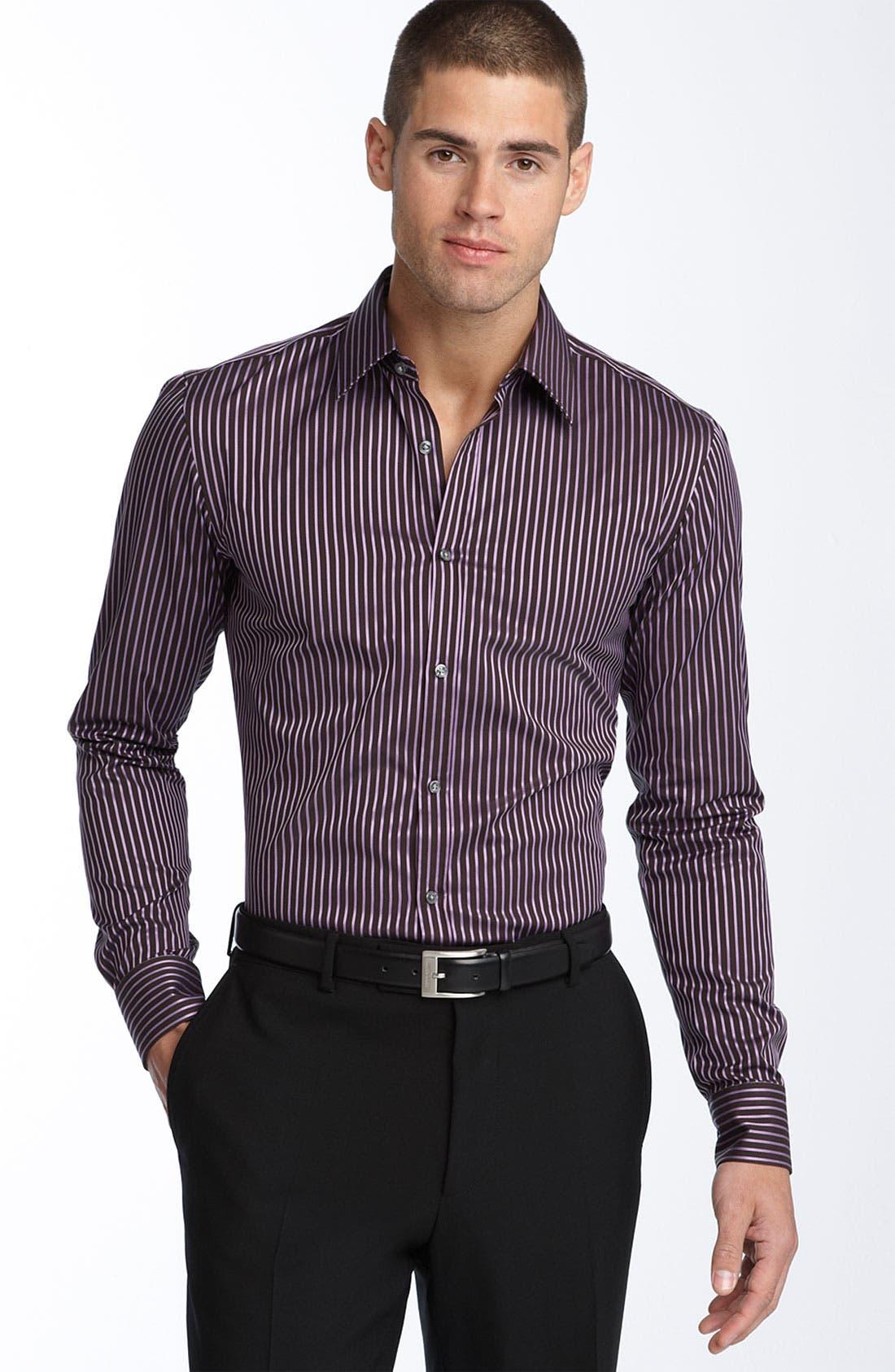 Main Image - BOSS Black Trim Fit Dress Shirt