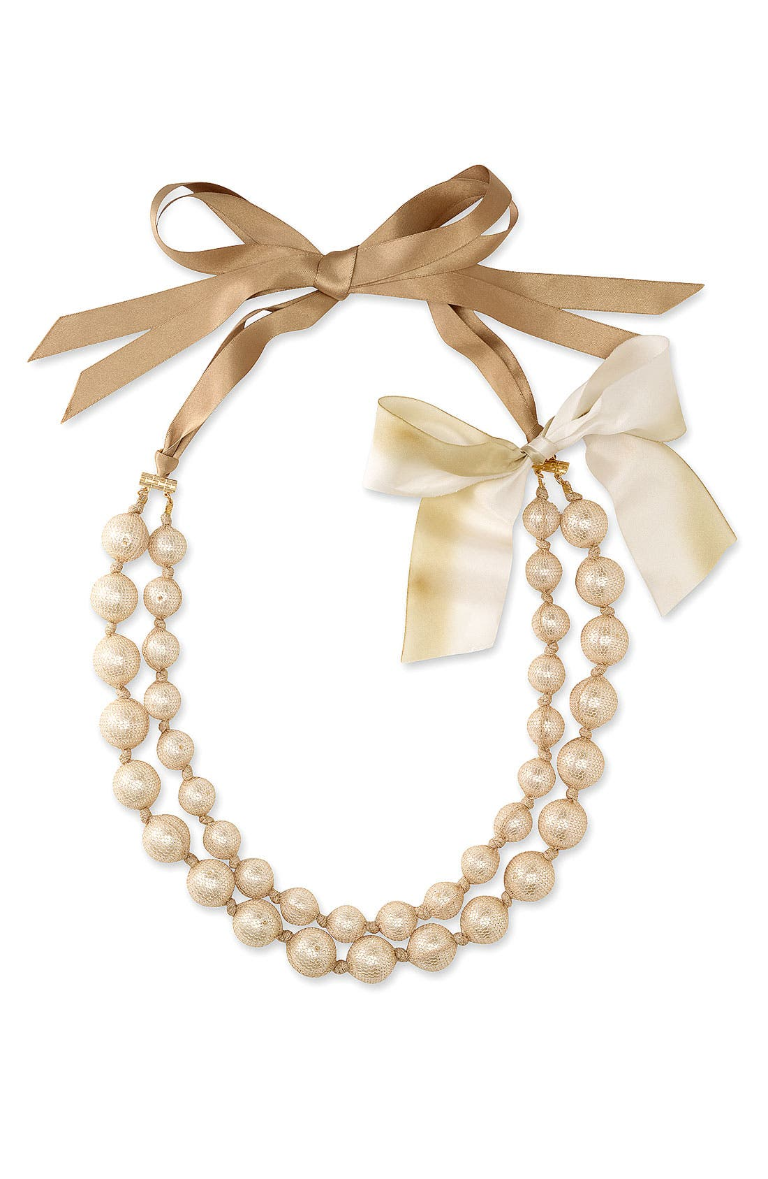 Alternate Image 1 Selected - Cara Accessories Netted Faux Pearl Necklace