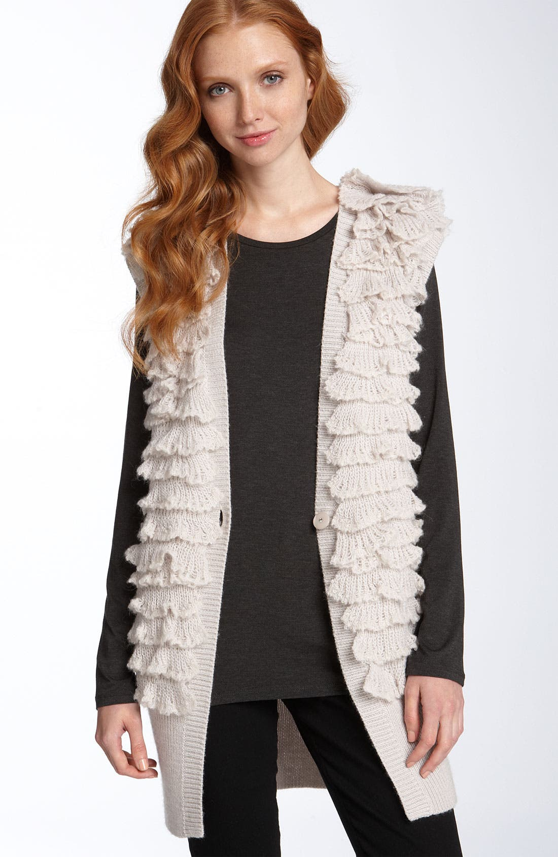 Alternate Image 1 Selected - Rebecca Taylor Layered Ruffle Vest