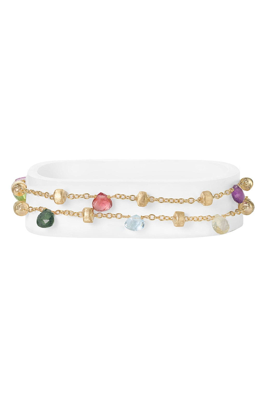 Alternate Image 1 Selected - Marco Bicego 'Paradise' Double Strand Semiprecious Stone Bracelet