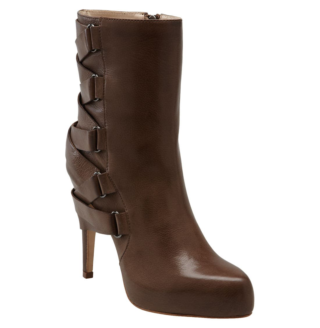'Strut' Ankle Boot,                             Main thumbnail 1, color,                             Brown