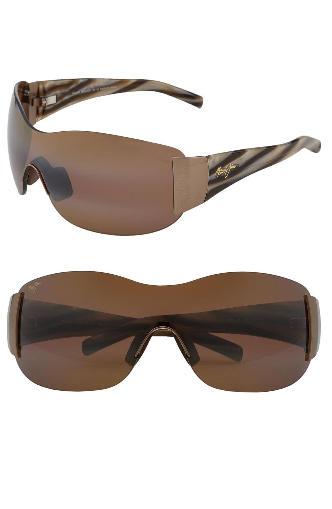 Alternate Image 1 Selected - Maui Jim 'Kula - PolarizedPlus®2' 73mm Rimless Shield Sunglasses