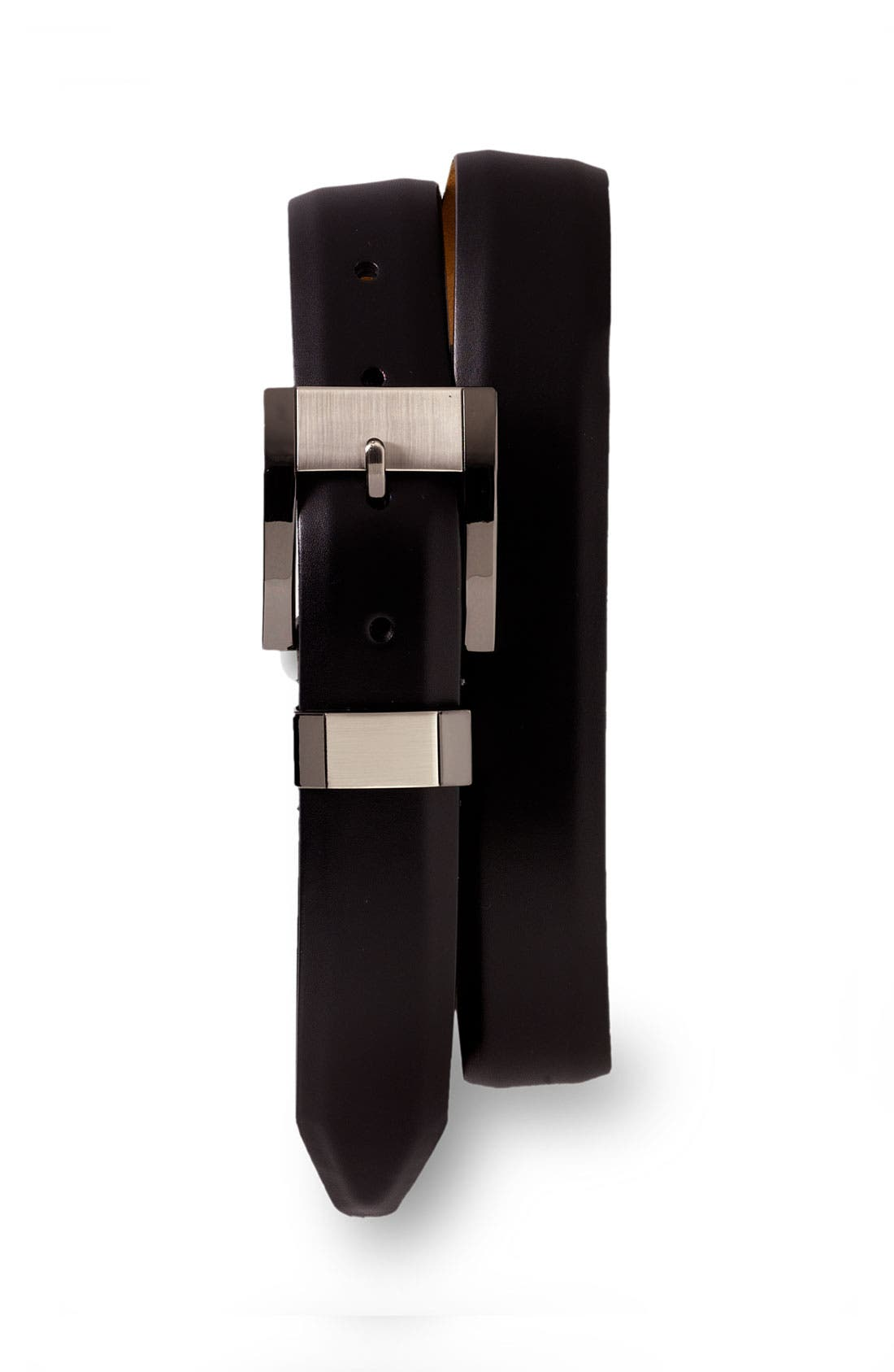 Alternate Image 1 Selected - Remo Tulliani Leather Belt with Brushed Gunmetal Buckle
