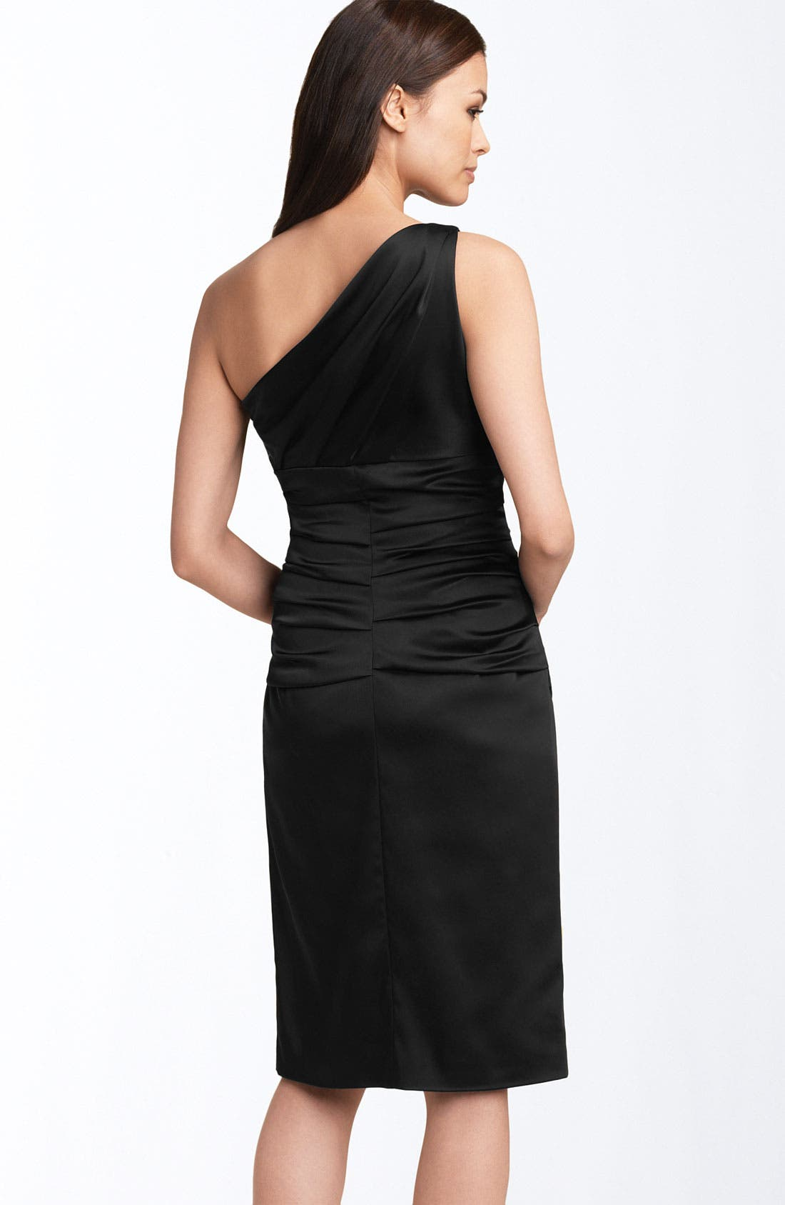 Alternate Image 2  - Suzi Chin for Maggy Boutique Stretch Satin Sheath Dress