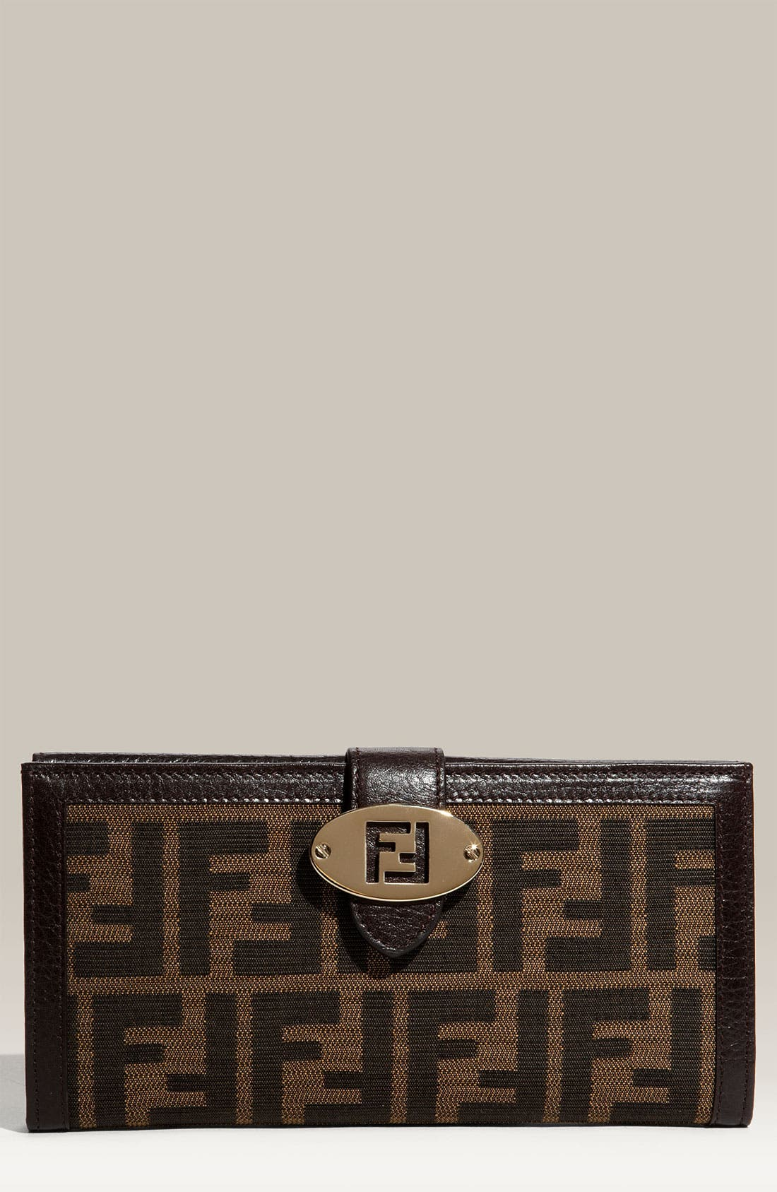 Alternate Image 1 Selected - Fendi 'Zucca' Checkbook Wallet