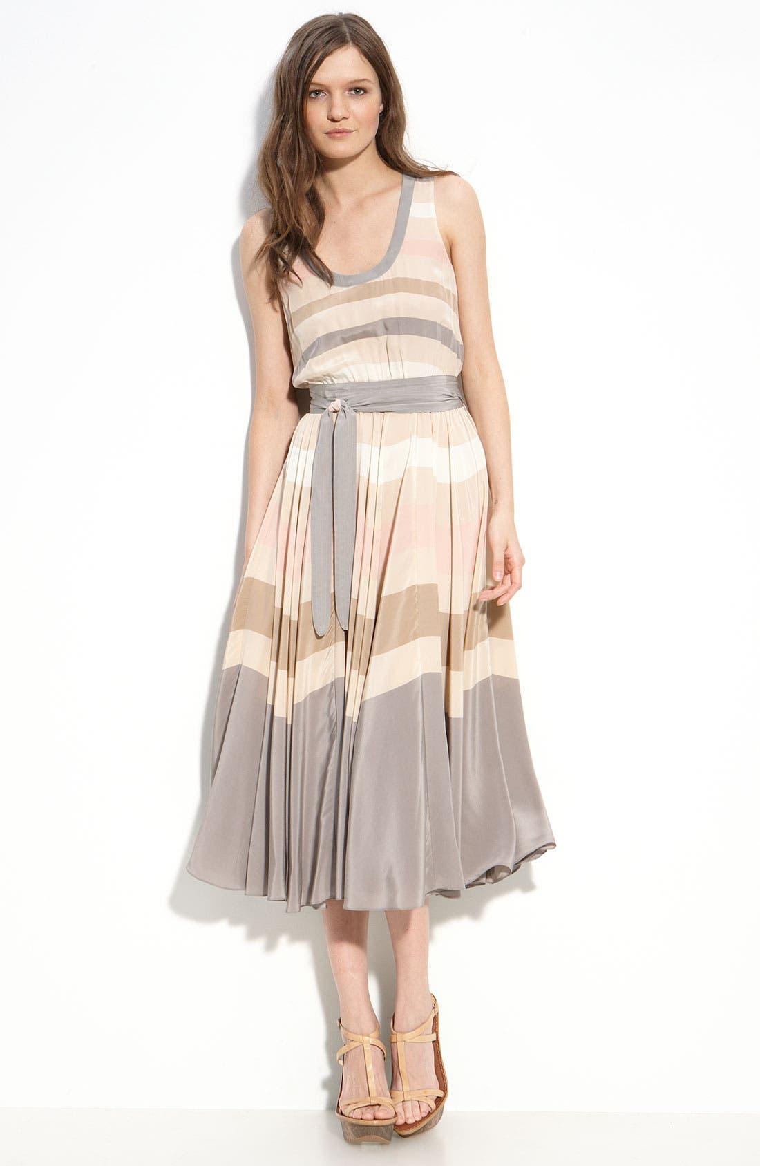 Main Image - MARC BY MARC JACOBS 'Simone' Stripe Silk Dress