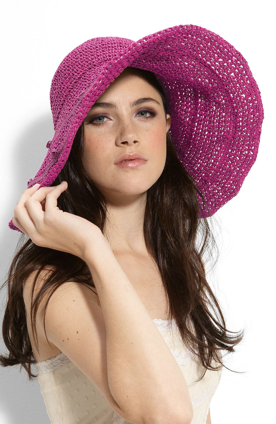 Main Image - Collection XIIX Crochet Floppy Straw Hat