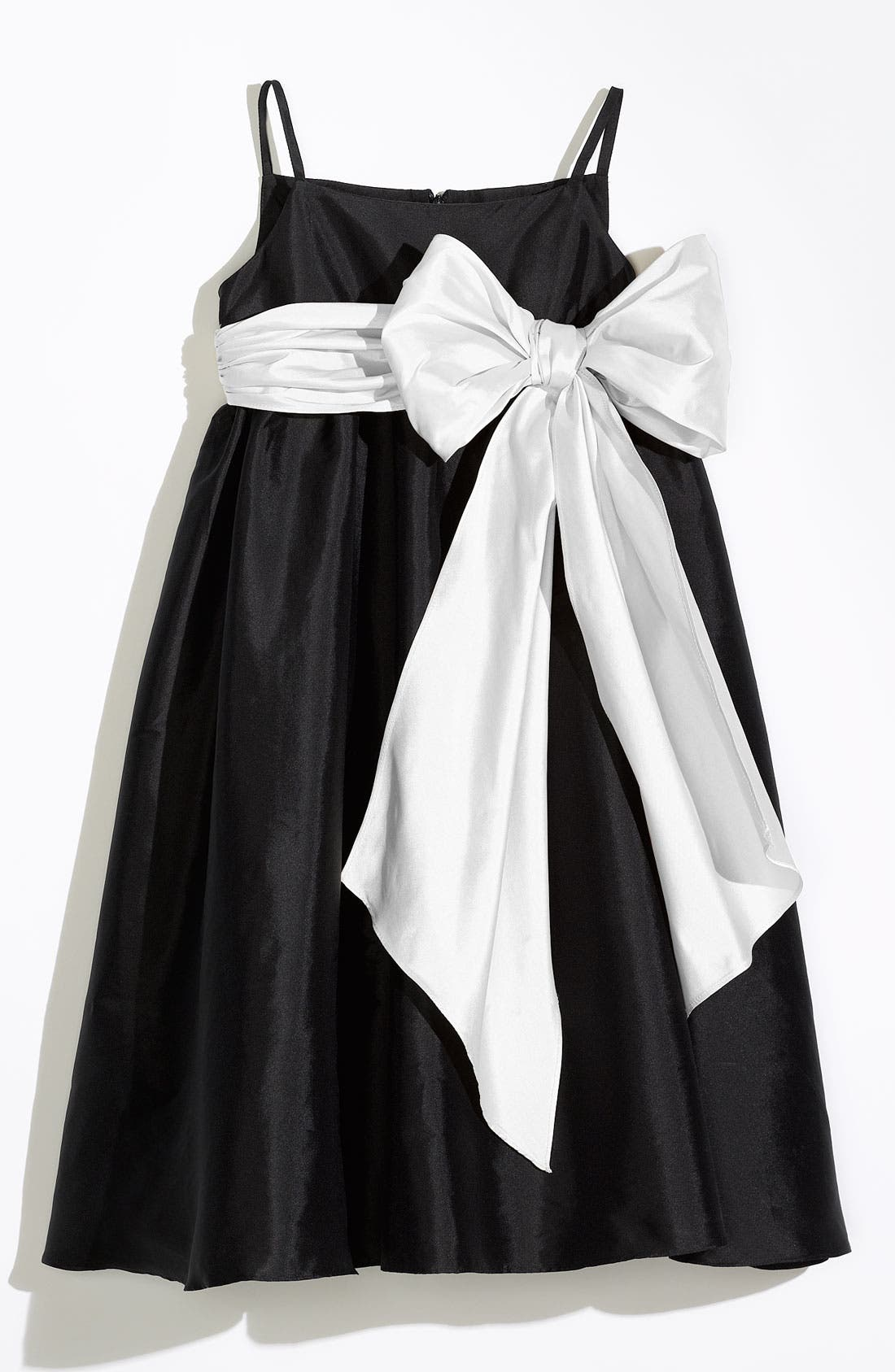 Main Image - Us Angels Sleeveless Empire Waist Taffeta Dress (Toddler, Little Girls & Big Girls)