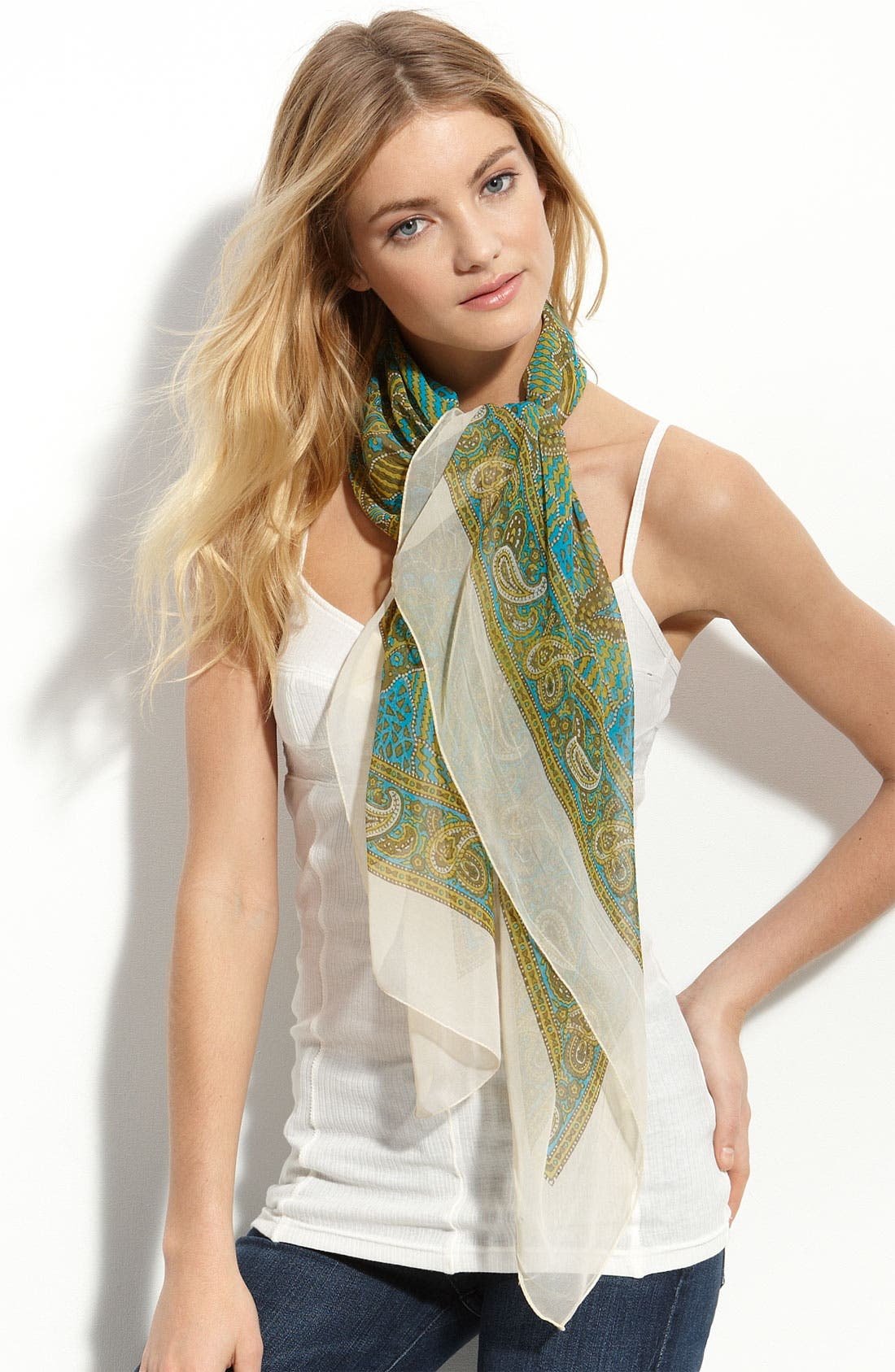 Main Image - Made of Me 'Puzzle Paisley' Square Scarf