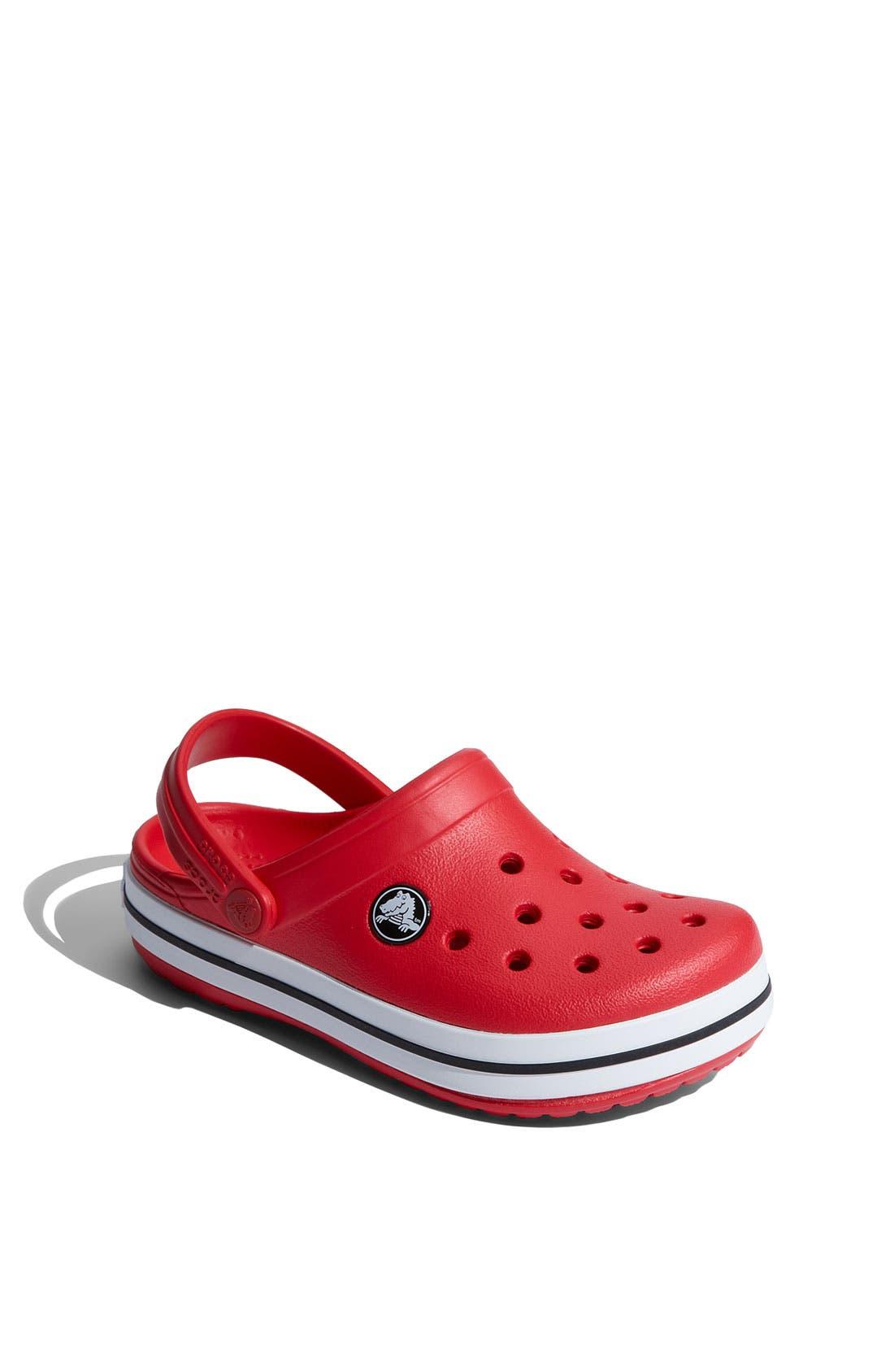 Alternate Image 1 Selected - CROCS™ 'Crocband' Slip-On (Walker, Toddler & Little Kid)