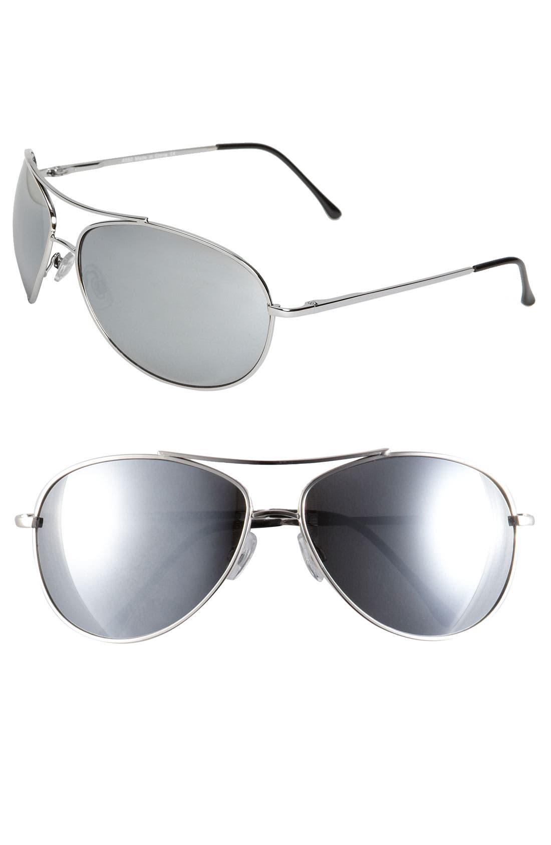 Main Image - KW 'Strike' Aviator Sunglasses