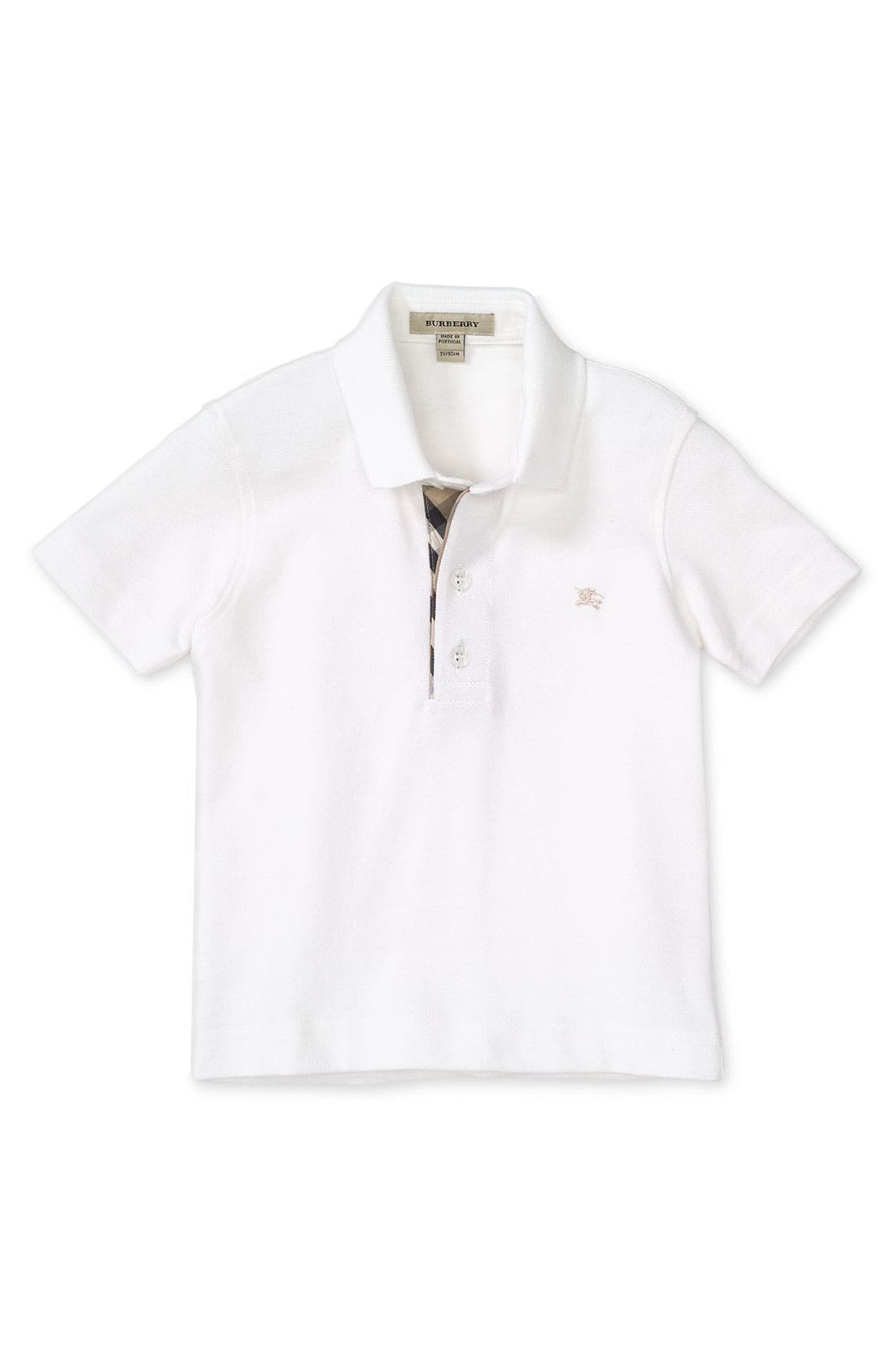 Alternate Image 1 Selected - Burberry Short Sleeve Polo Shirt (Big Boys)