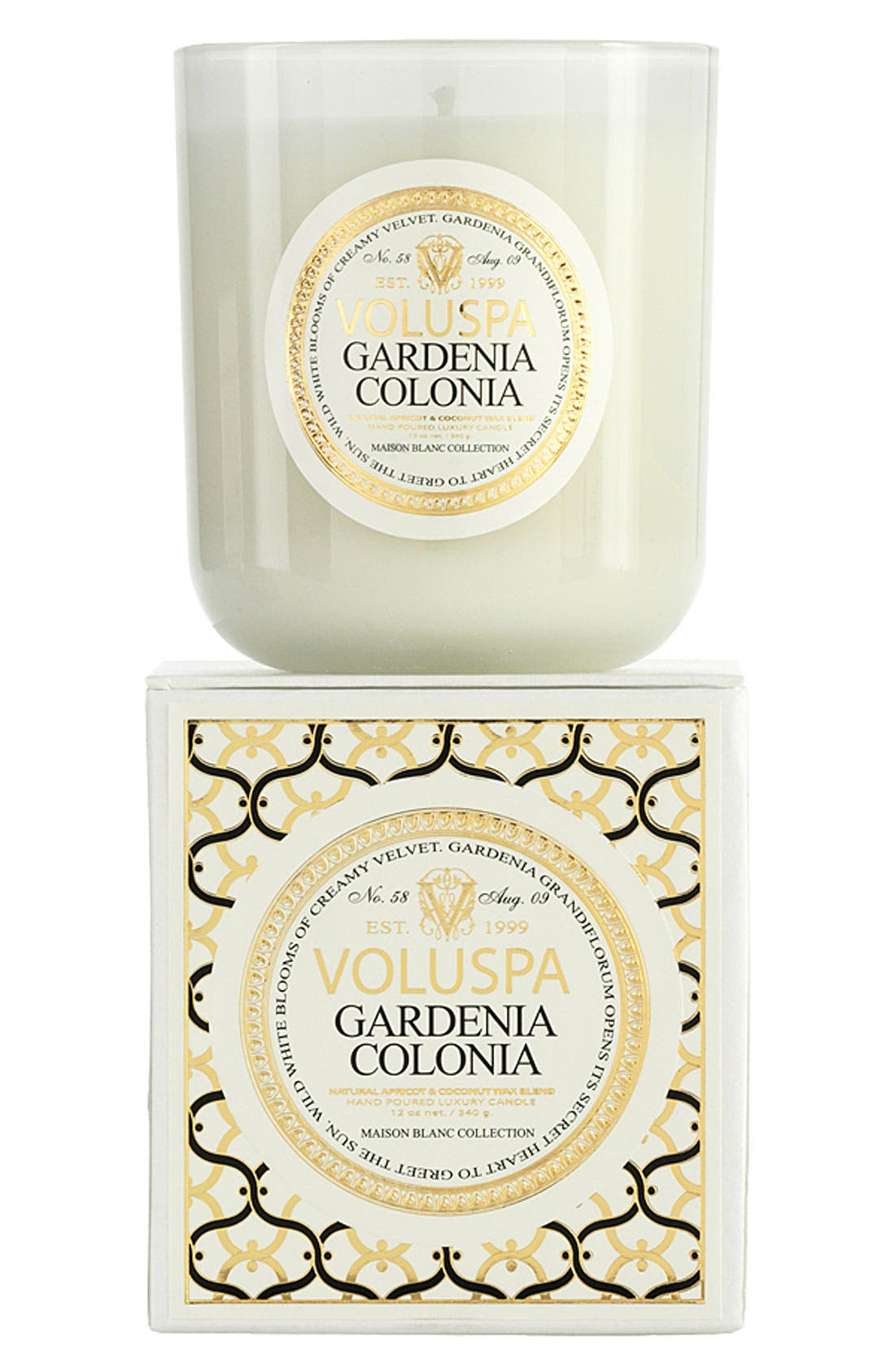 Alternate Image 1 Selected - Voluspa Maison Blanc - Gardenia Colonia Boxed Candle