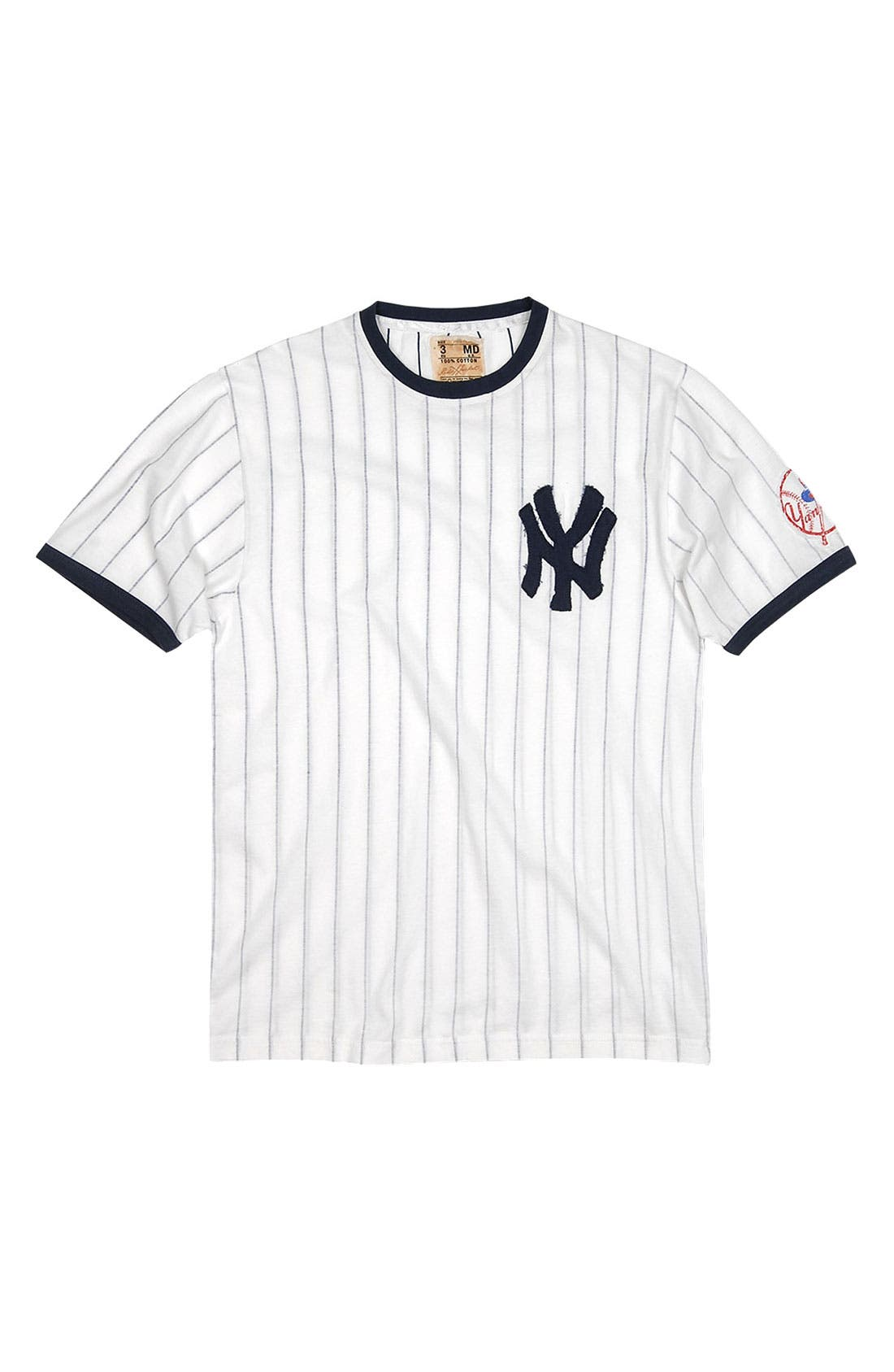 Alternate Image 4  - Red Jacket 'New York Yankees' Trim Fit Ringer T-Shirt (Men)