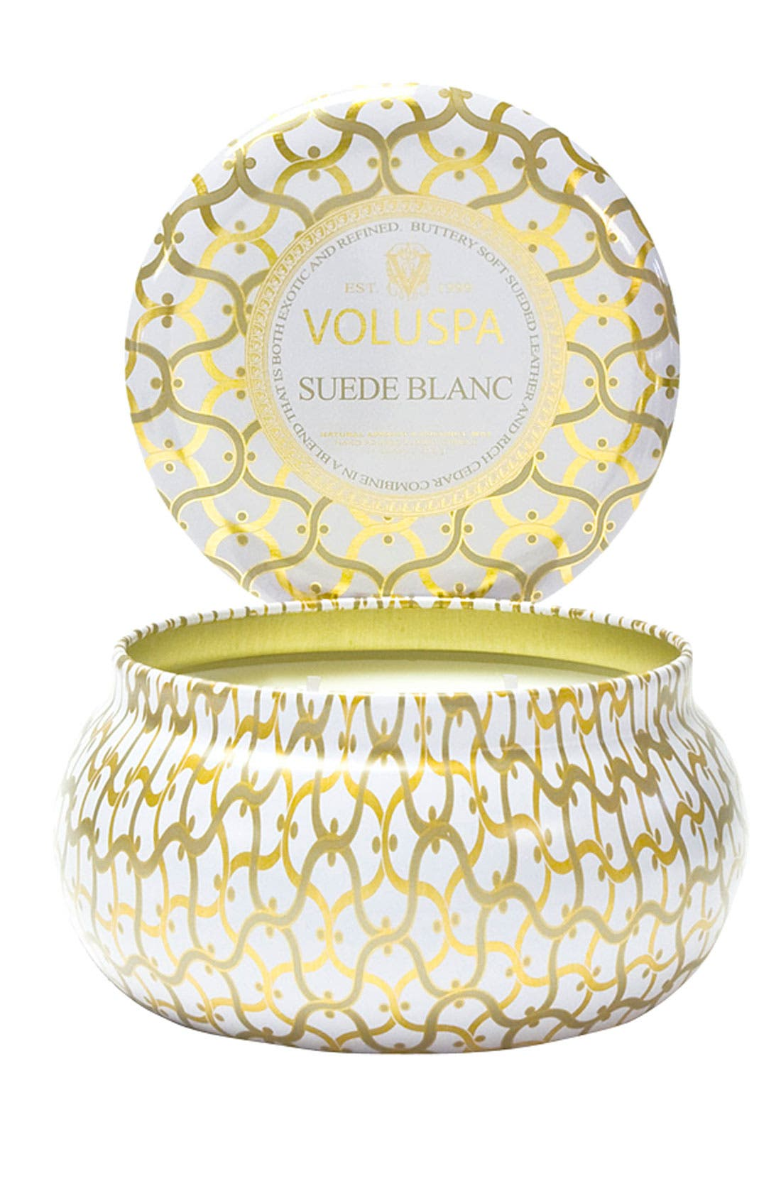 Classic Maison Suede Blanc Maison Metallo Two-Wick Candle,                         Main,                         color,