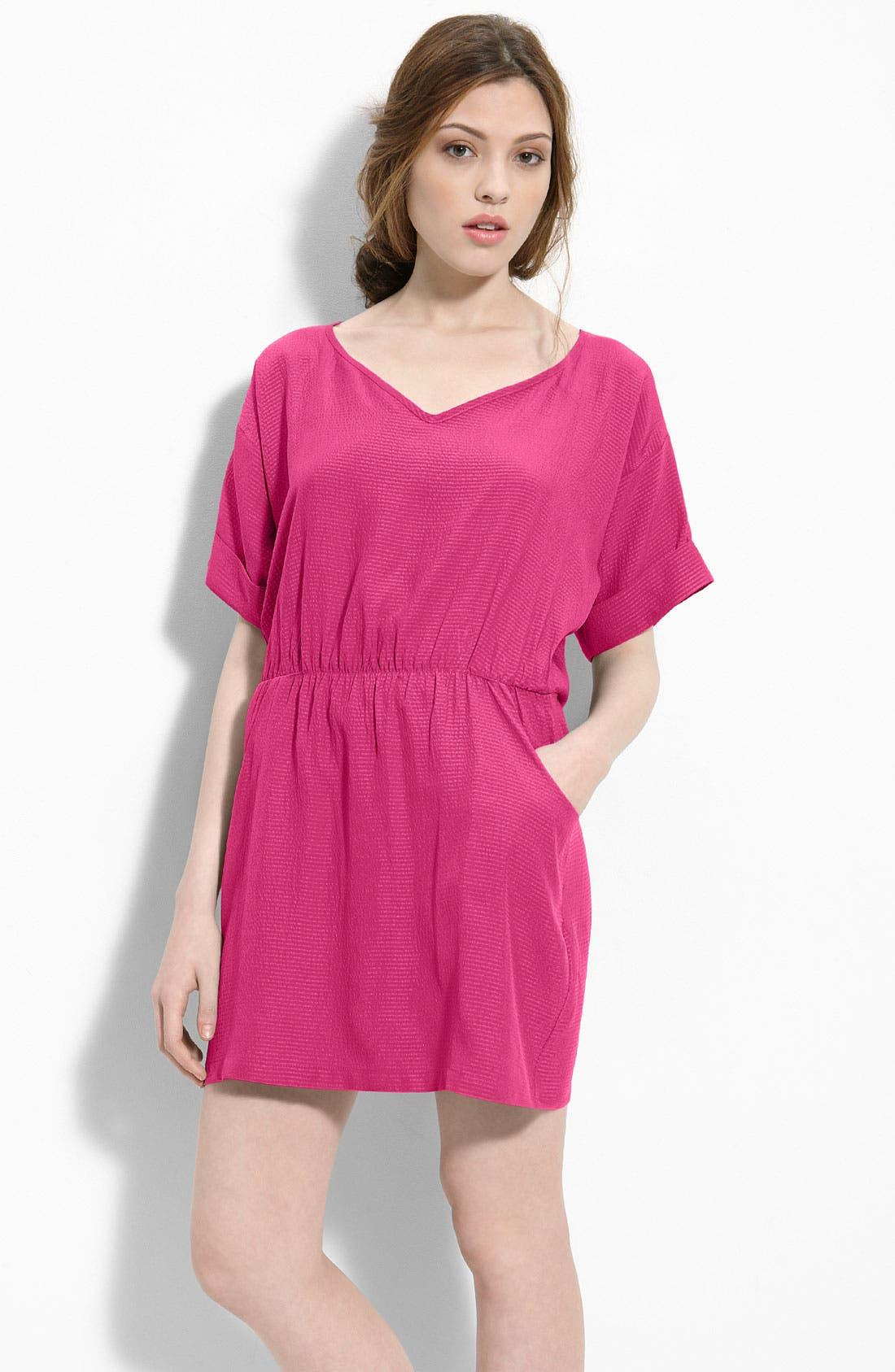 Alternate Image 2  - Myne Cutout Back Silk Dress