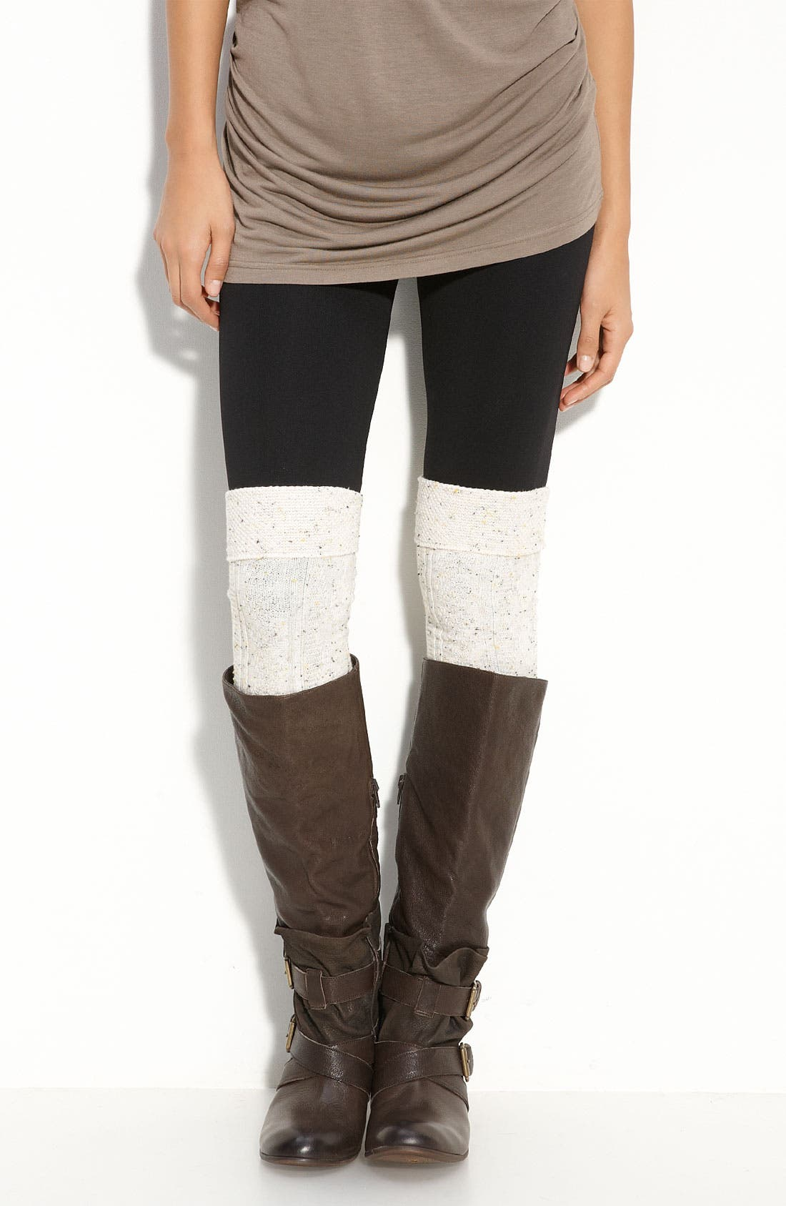Textured Over the Knee Socks,                         Main,                         color, Oatmeal